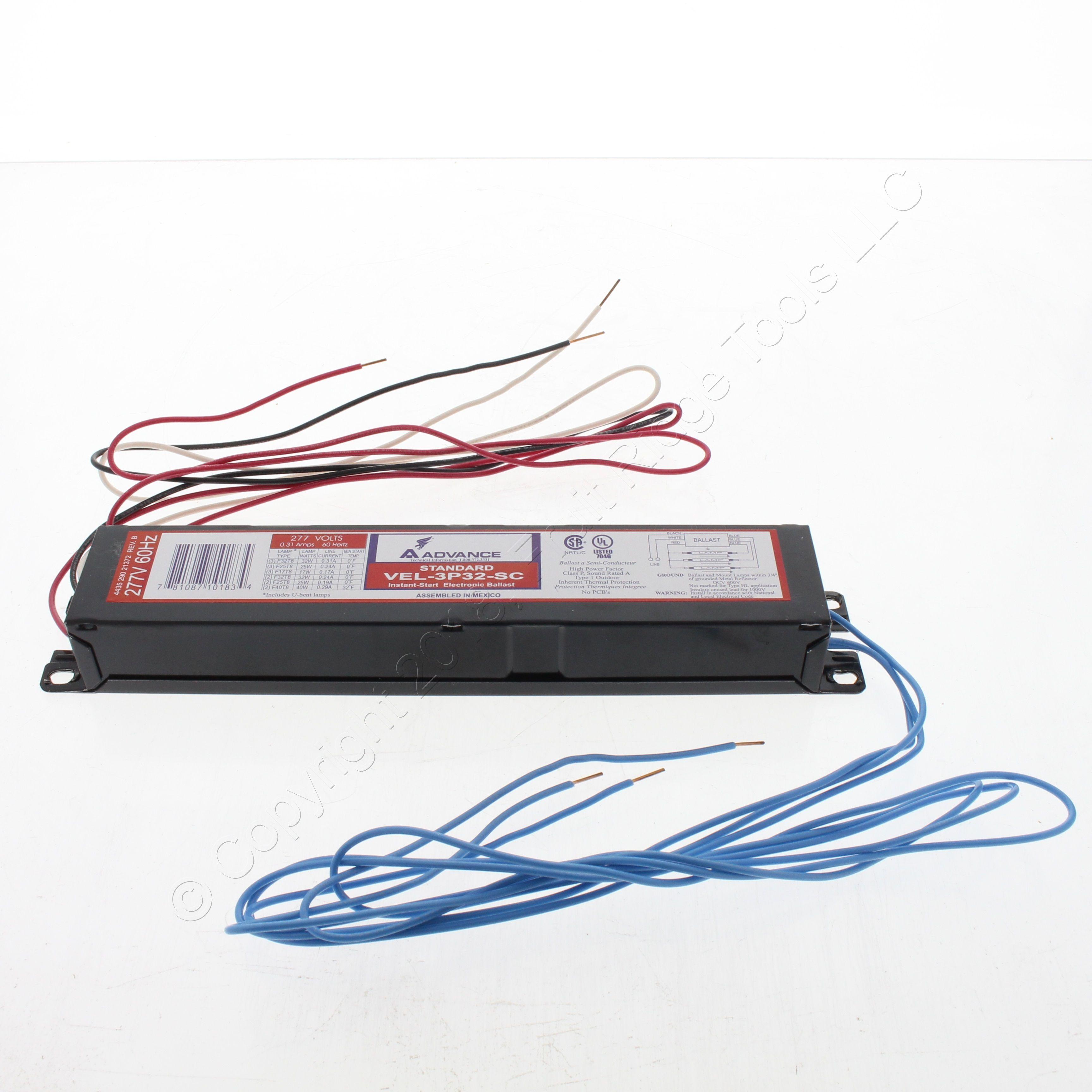 Shop New Advance 2 Lamp Instant Start 277v Electronic 277 Volt Ballast Wiring Flourescent Vel 3p32 Sc Fruit Ridge Tools