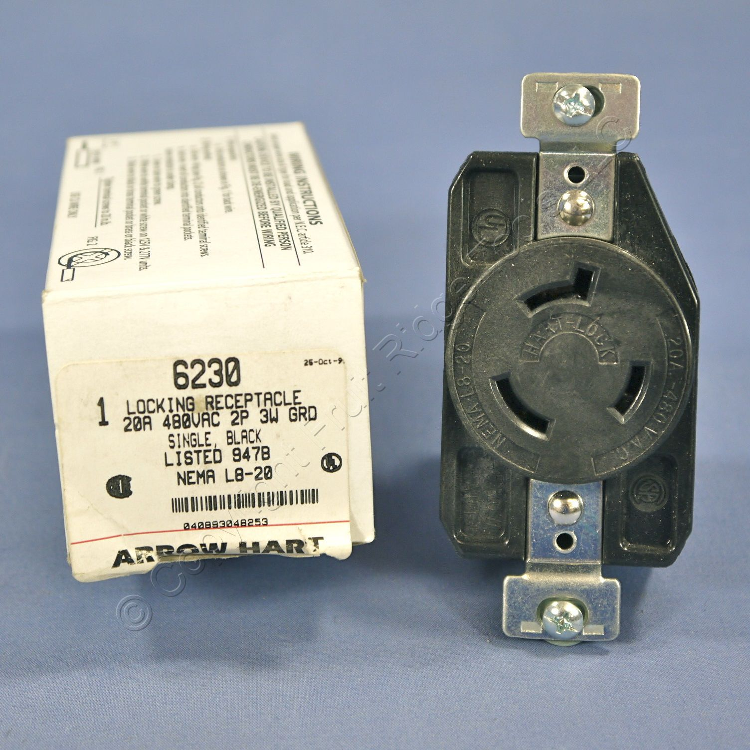 Arrow Outlets Giftsforsubs Hart 5709n Power Receptacle 50a 250v Nema 650 2pole 3wire Ebay Twist Turn