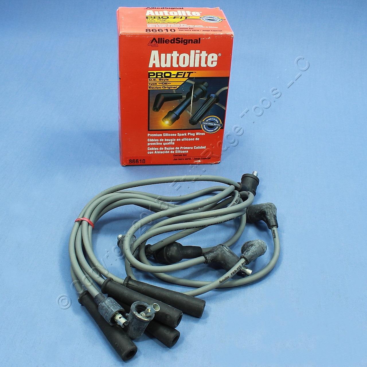 Autolite 86418 Spark Plug Wire Set for 82-91 Sentra Micra Sable 1.2L ...
