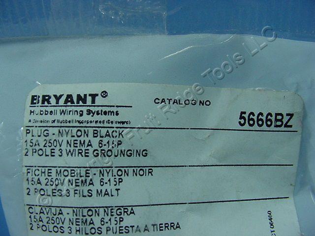 🏠 🔌 Buy Bryant ALL-BLACK INDUSTRIAL Straight Blade STUDIO Plug ...