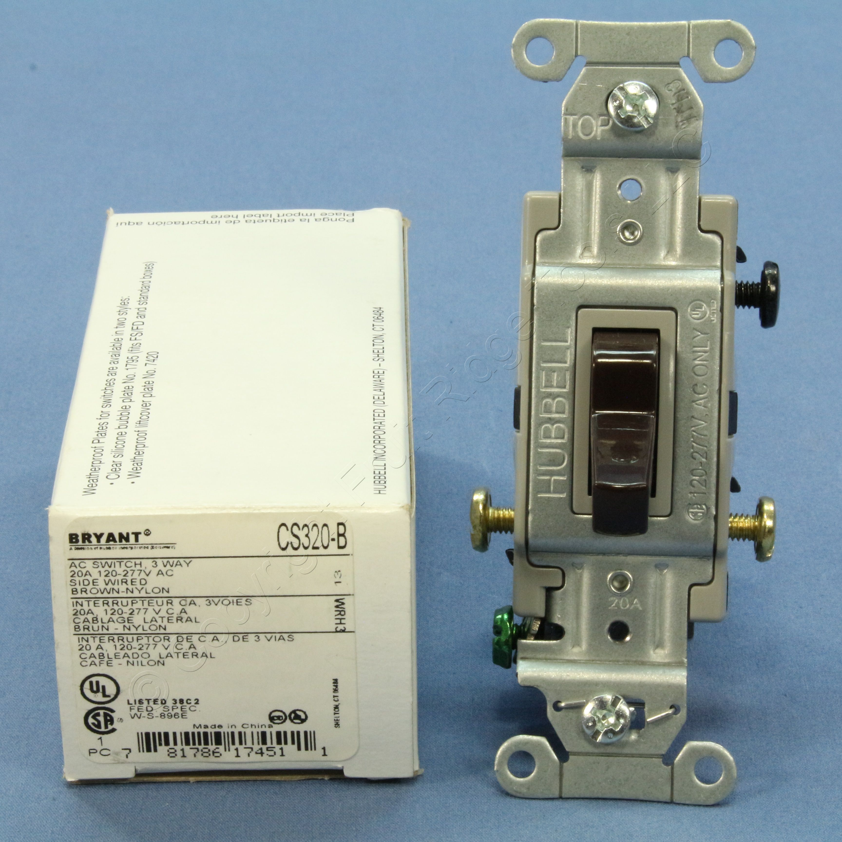 Shop Bryant Brown 3 Way Commercial Grade Toggle Wall Light Switch Buy Control 15a Cs315 B Fruit Ridge Tools