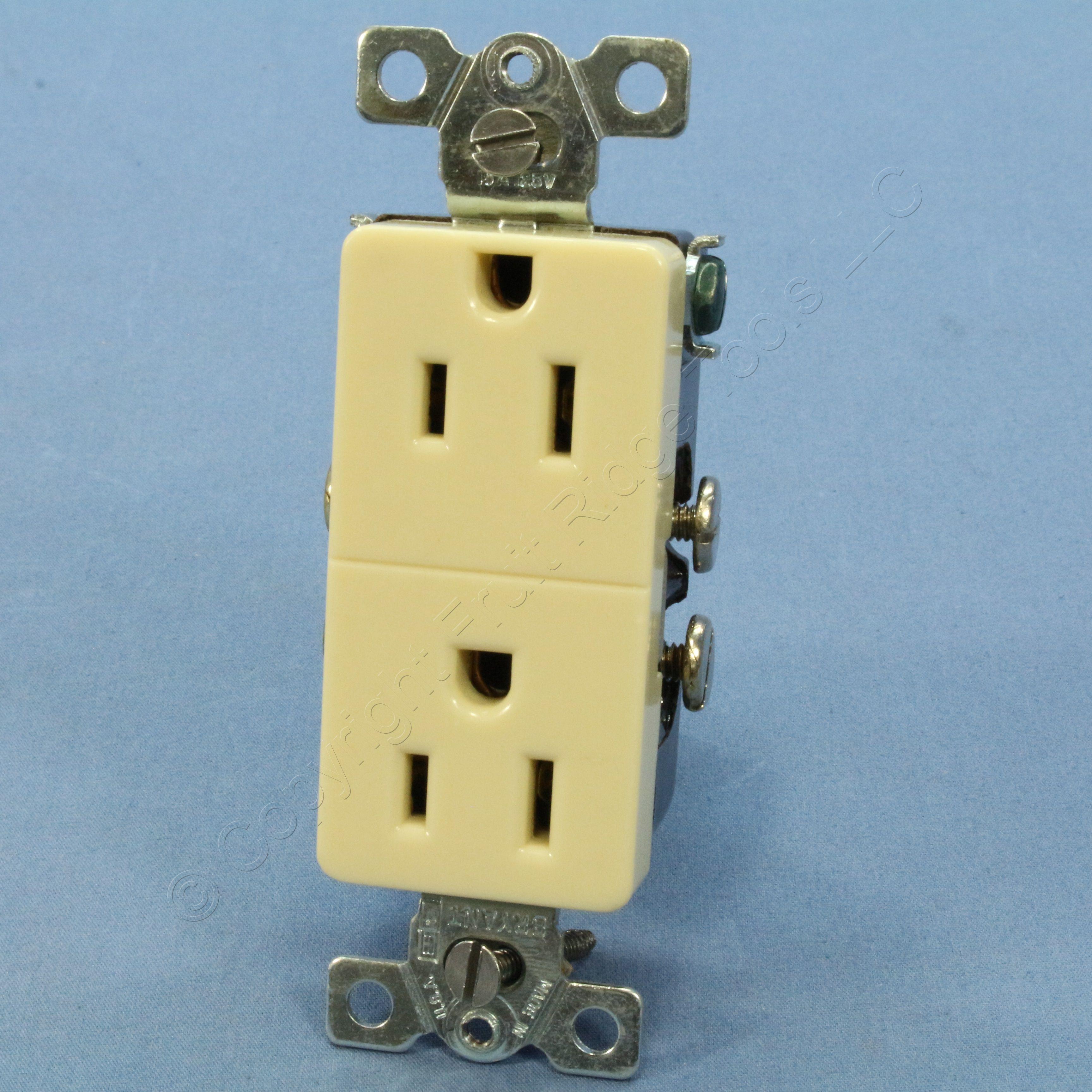 Buy NEW Bryant Superior Wiring VINTAGE Ivory 5-15R Receptacle Duplex ...