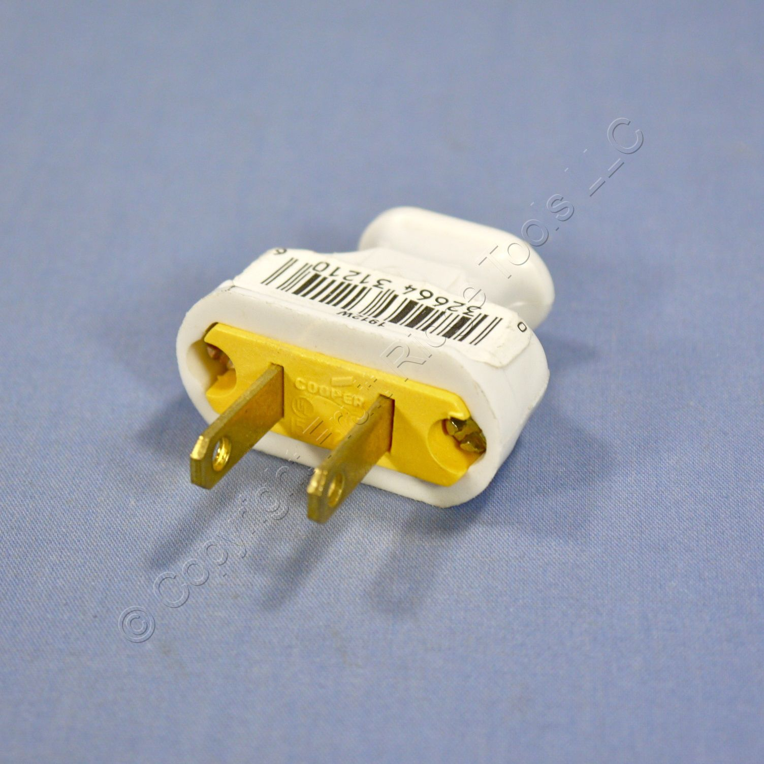 Swell Cooper White Residential Non Polarized Plug Cord End 15A 125V Nema 1 Wiring 101 Vieworaxxcnl