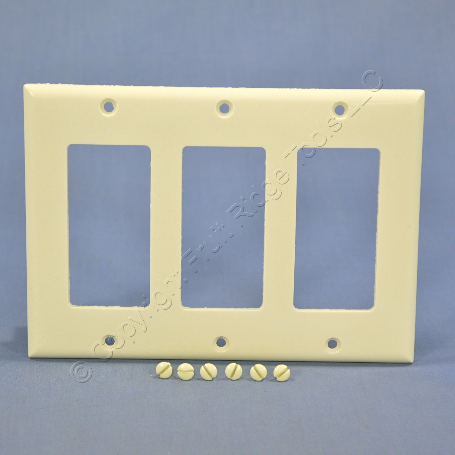 Cooper Almond Standard Decorator 3-Gang Thermoset Wallplate GFCI GFI ...