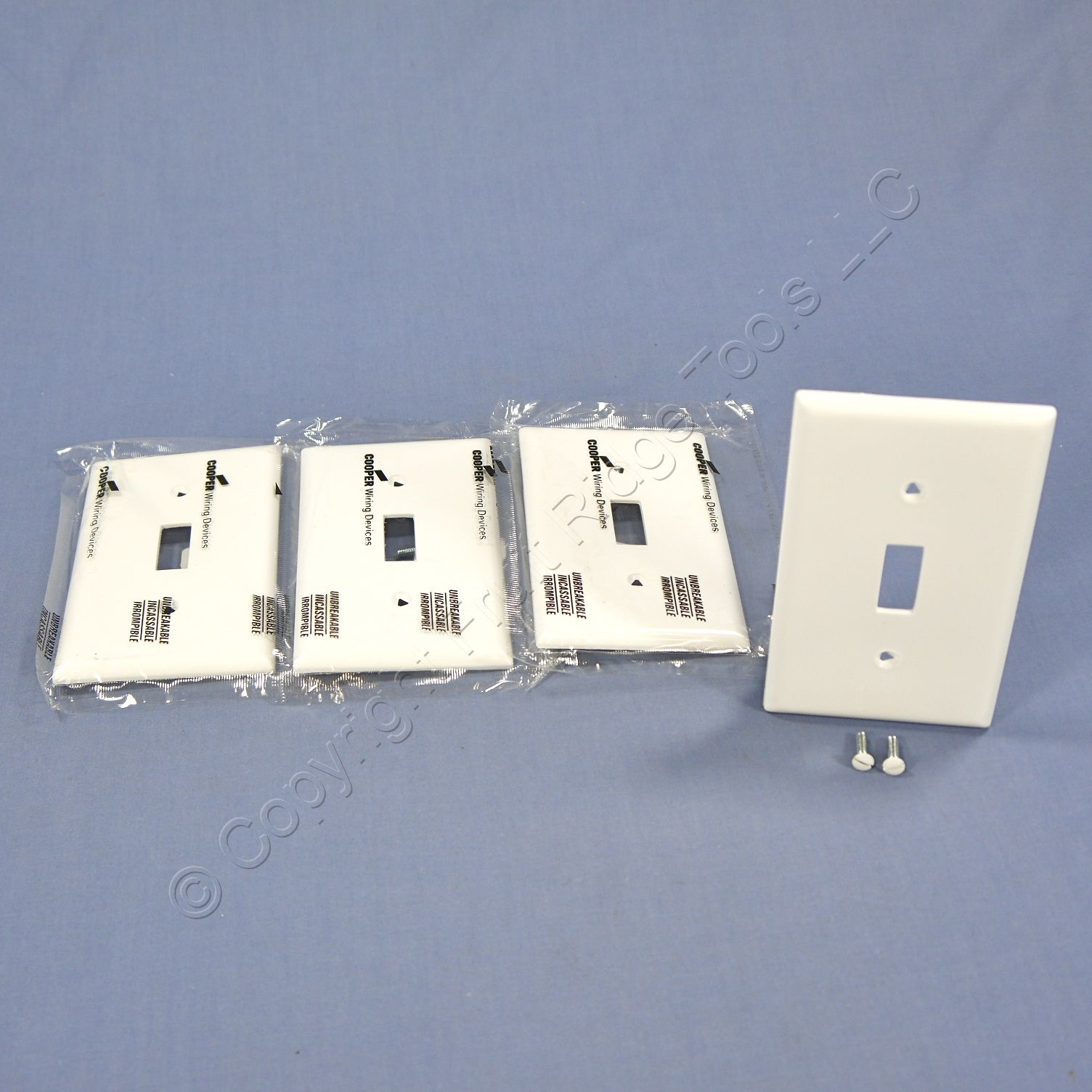 Shop 4 Cooper White Standard 1 Gang Unbreakable Toggle Switch Wiring Wall Plates Cover Plate Switchplates 5134w Fruit Ridge Tools