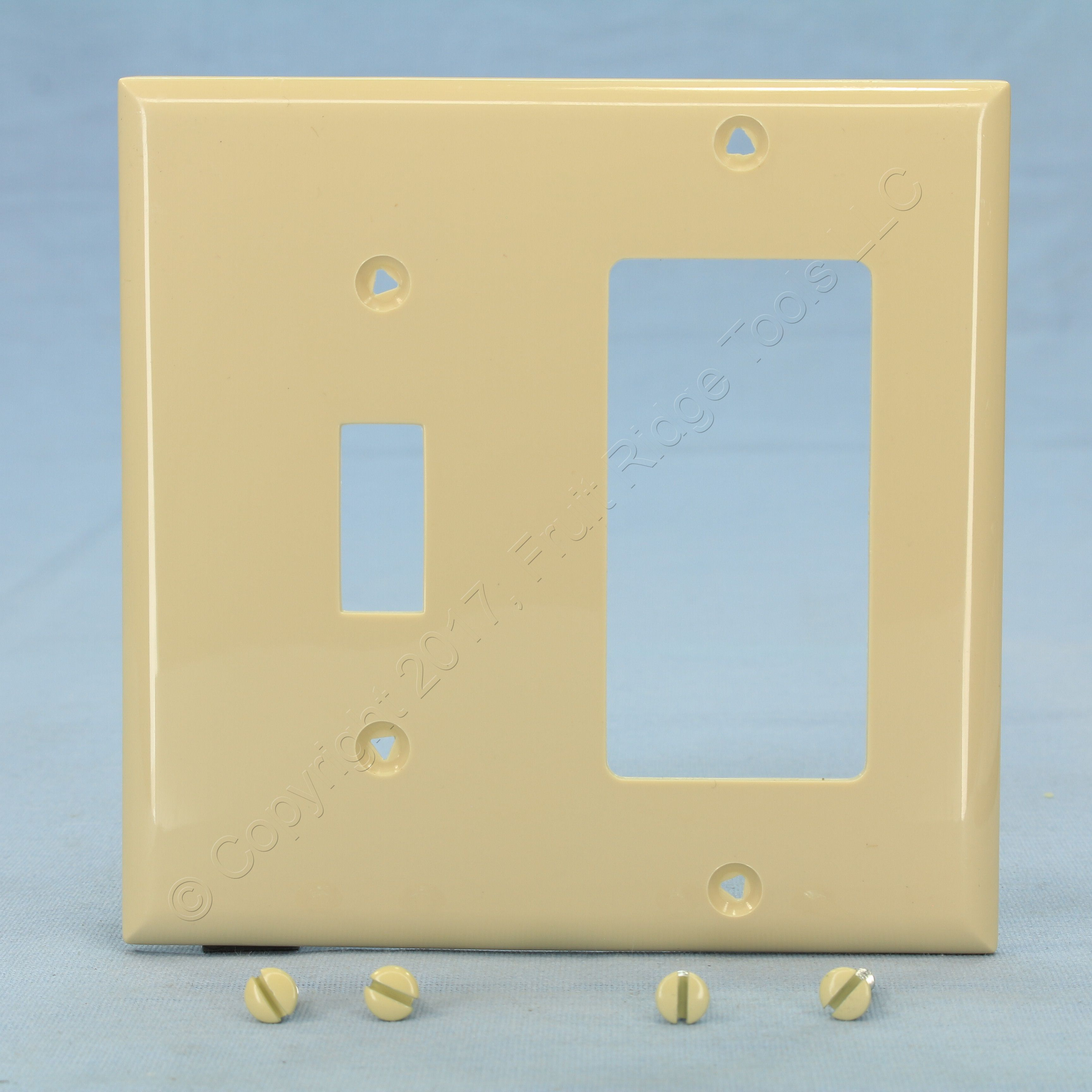 Cooper Ivory Unbreakable Switch Plate Decorator GFCI GFI Cover ...