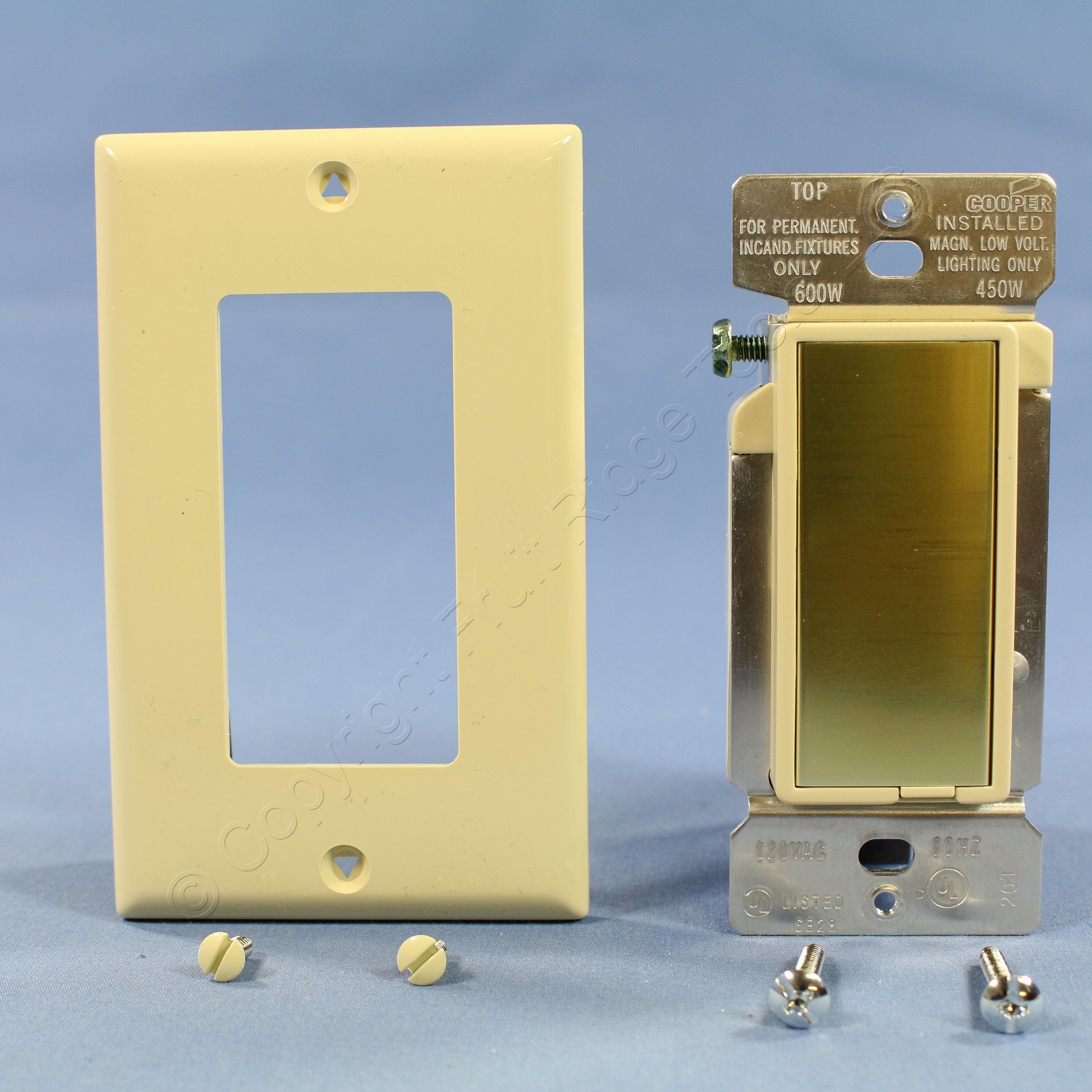 🏠 🔌 Buy Cooper Ivory Decorator TOUCH Pad MASTER Dimmer Switch 600W ...
