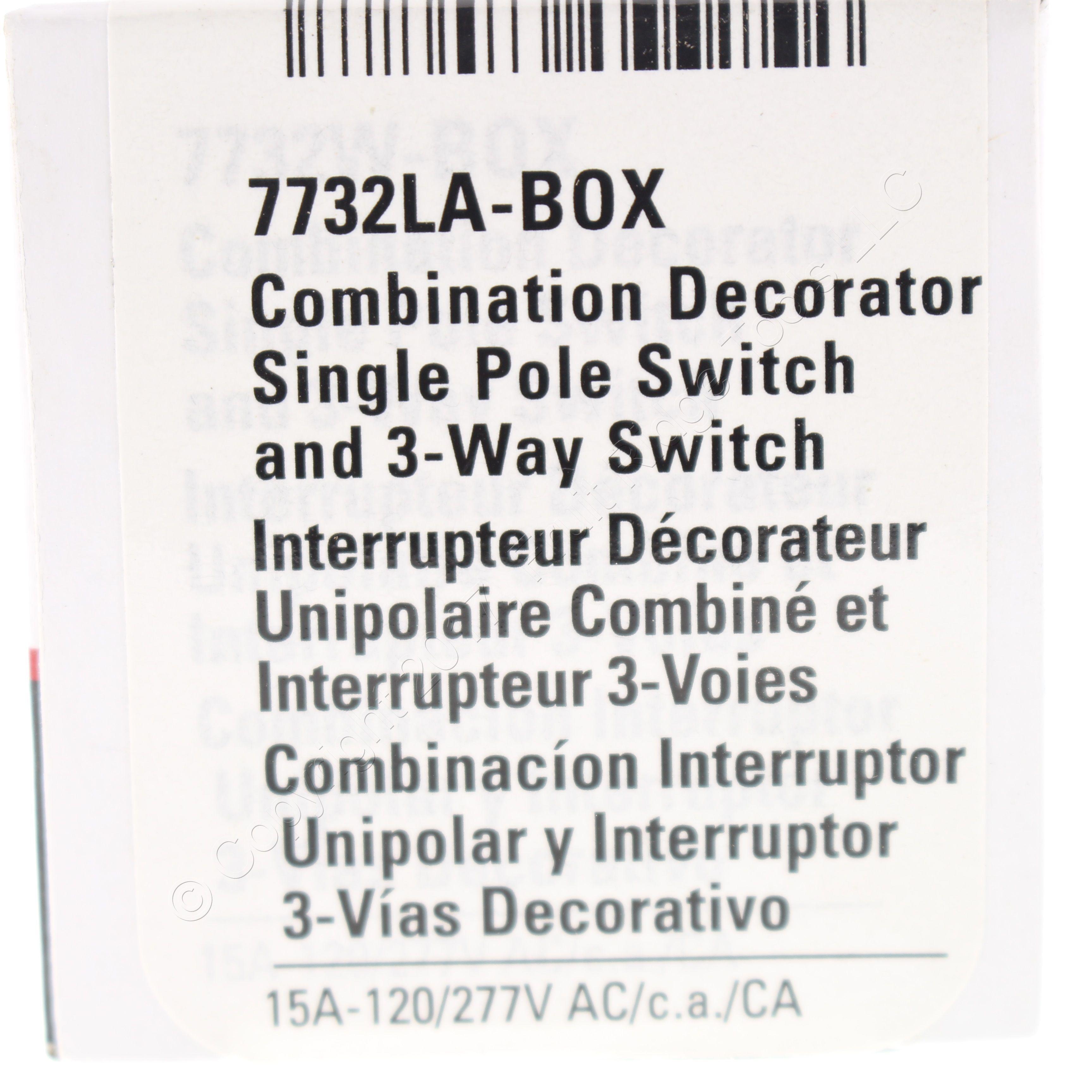 🏠 🔌 Shop Cooper Light Almond Decorator Single Pole/3-Way DOUBLE ...