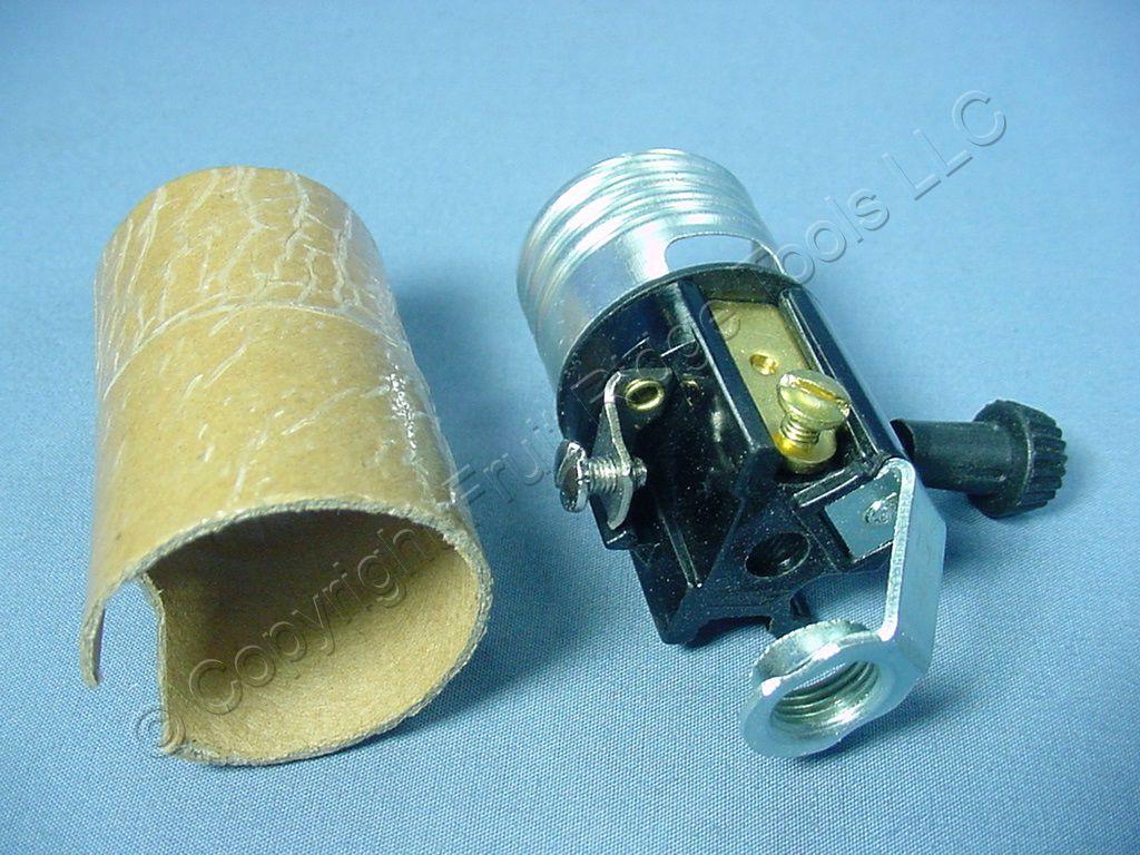Cooper 3 Way Lampholder Core Turn Knob Hickey Mount Light Socket Switch Repair 250w Bulk 926
