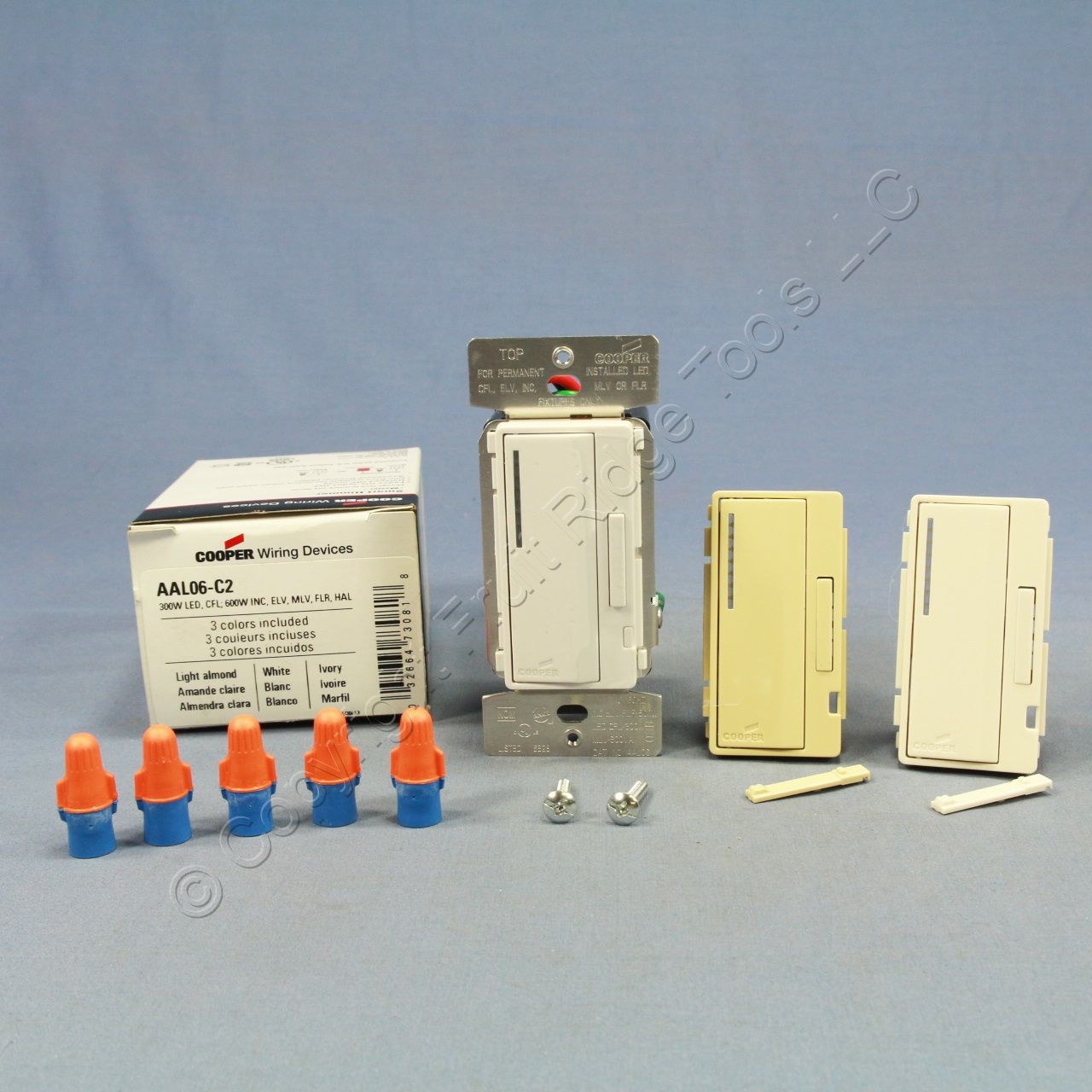 Cooper Wh La Iv Smart Al Series Dimmer Switch On Off 300w Led 600 Wiring Devices Inc Aal06 C2