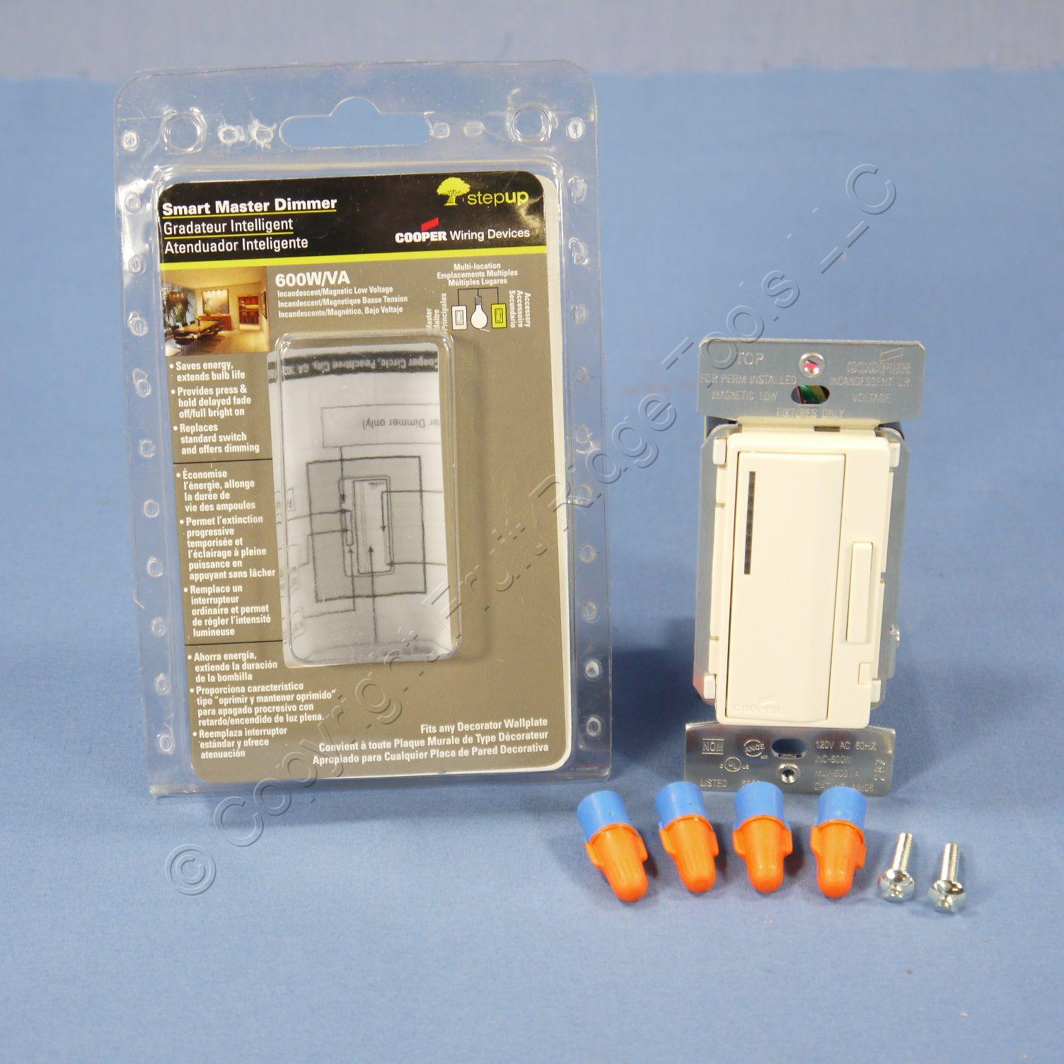 Buy Cooper Almond Smart Master Dimmer Preset Light Switch Multi-Way ...