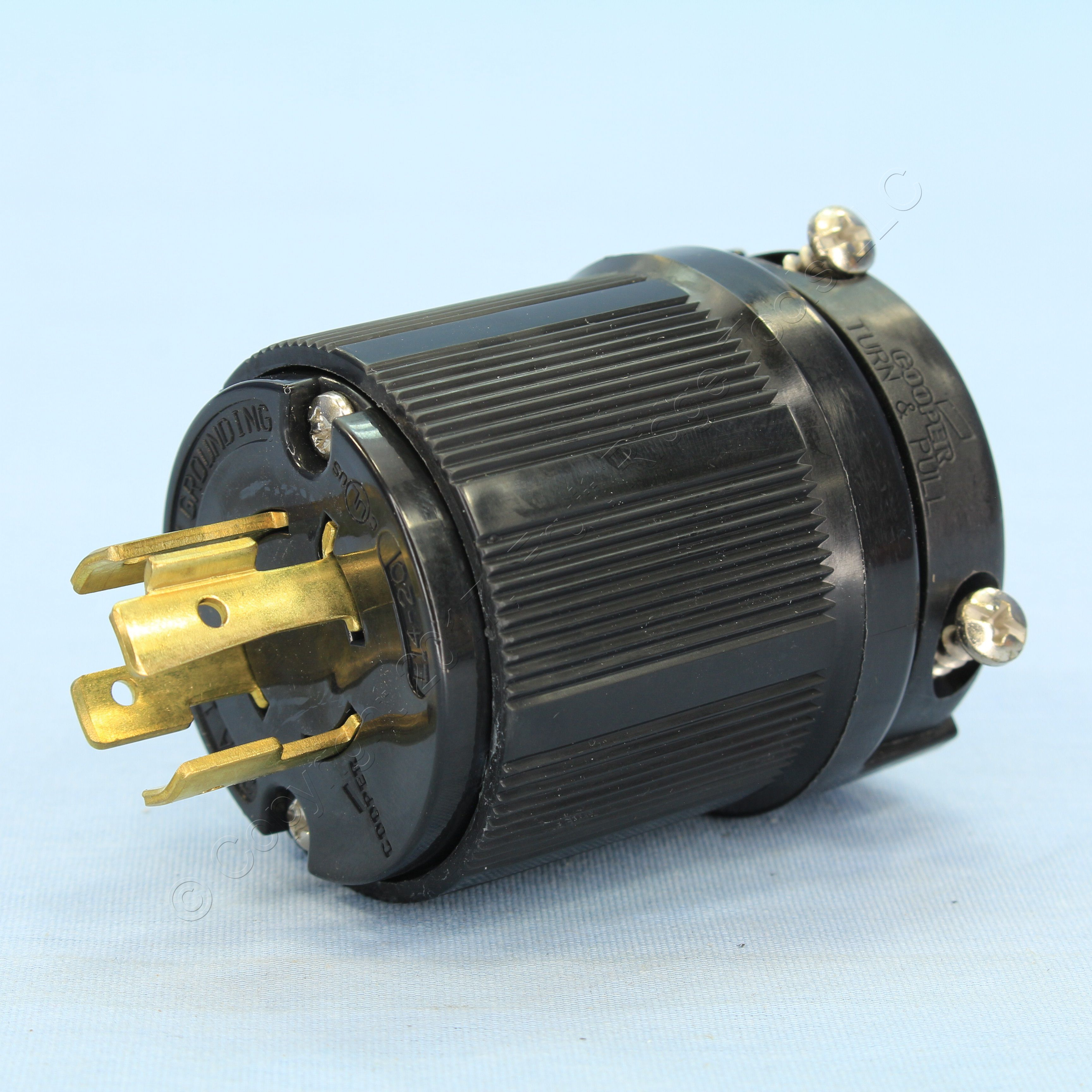 Awesome Cooper Wiring Devices Black Locking Plug 20A 125 250V 3 Pole 4 Wire Wiring Cloud Venetioscosaoduqqnet