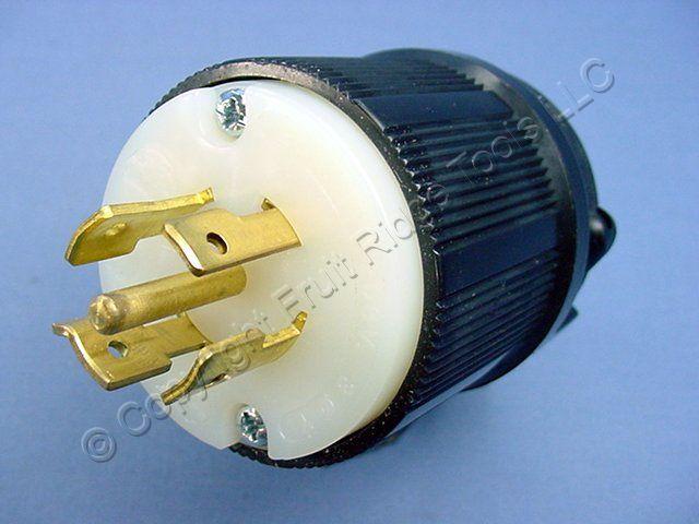 3-Phase New L21-20 Plug Rated for 20A 120//208V NEMA L21-20P Locking Plug