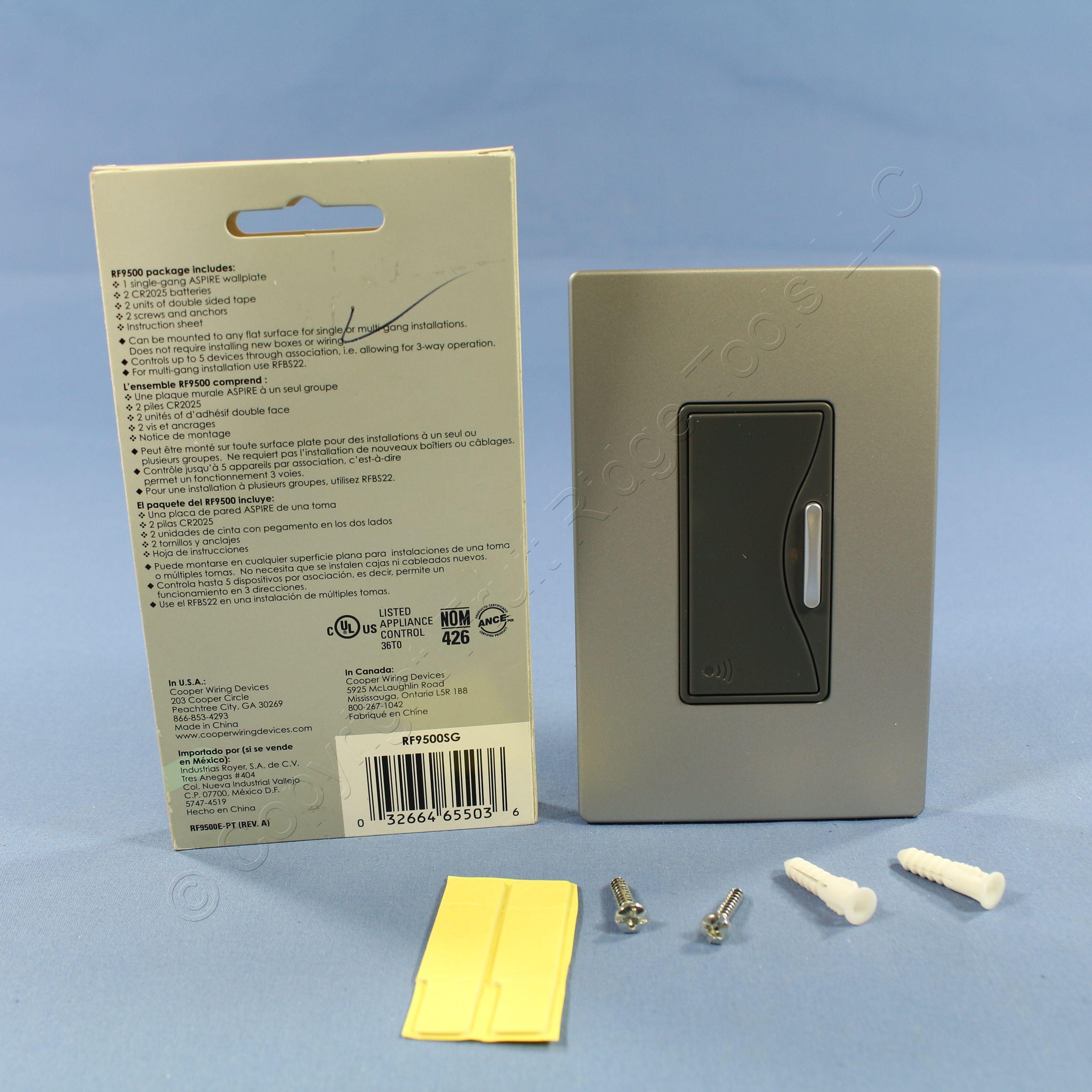 Buy Cooper Silver Granite ASPIRE RF Battery Operated Wireless Remote ...
