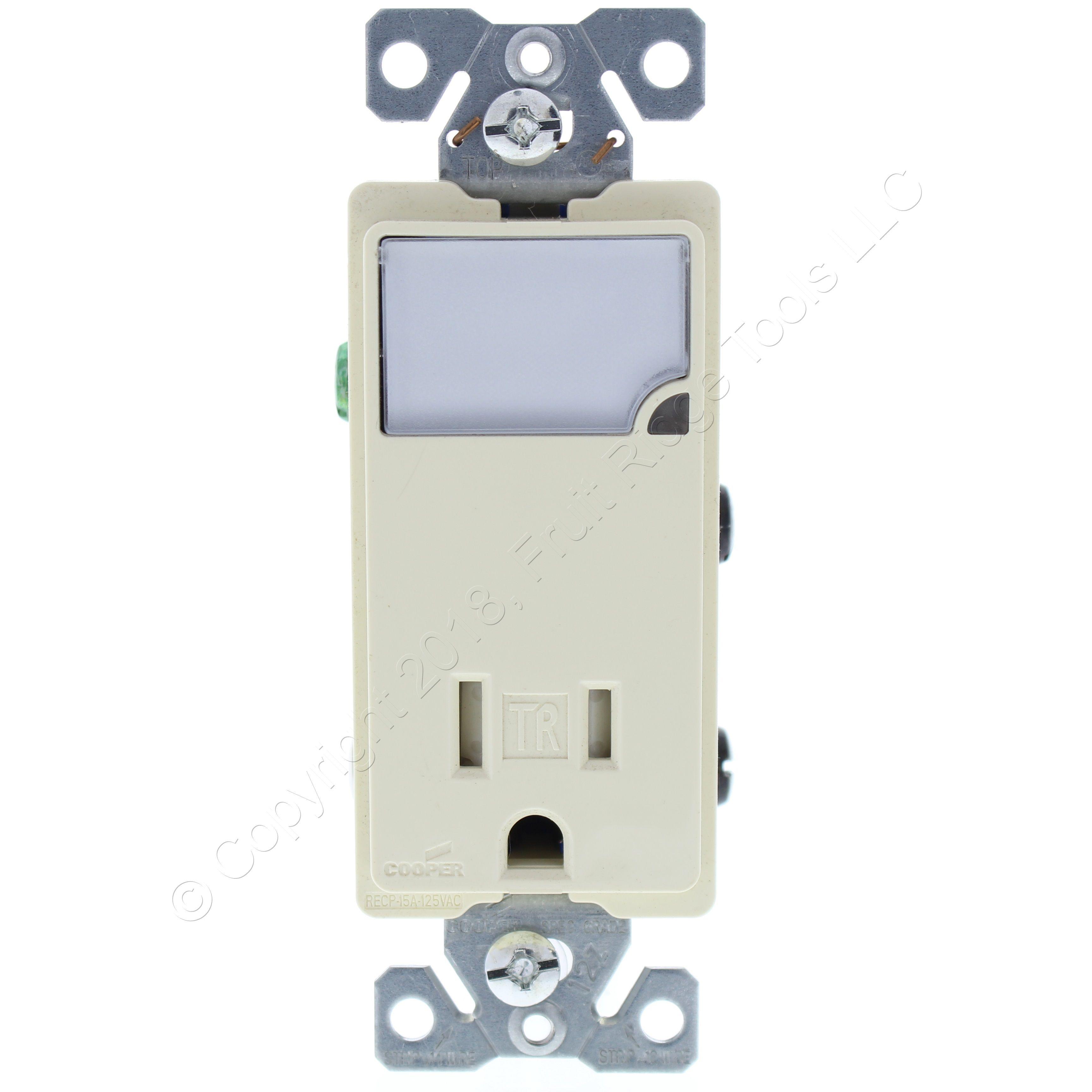125-Volt NEMA 5-15 Light Almond EATON Wiring TR270LA Tamper Resistant Duplex Receptacle with 15-Amp
