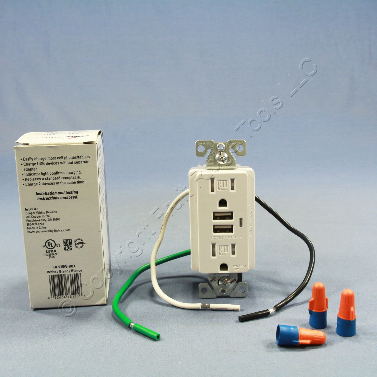 buy cooper white tamper resistant combination duplex receptacle rh fruitridgetools com Cooper Wiring Devices Wall Plate Cooper Wiring Devices Logo