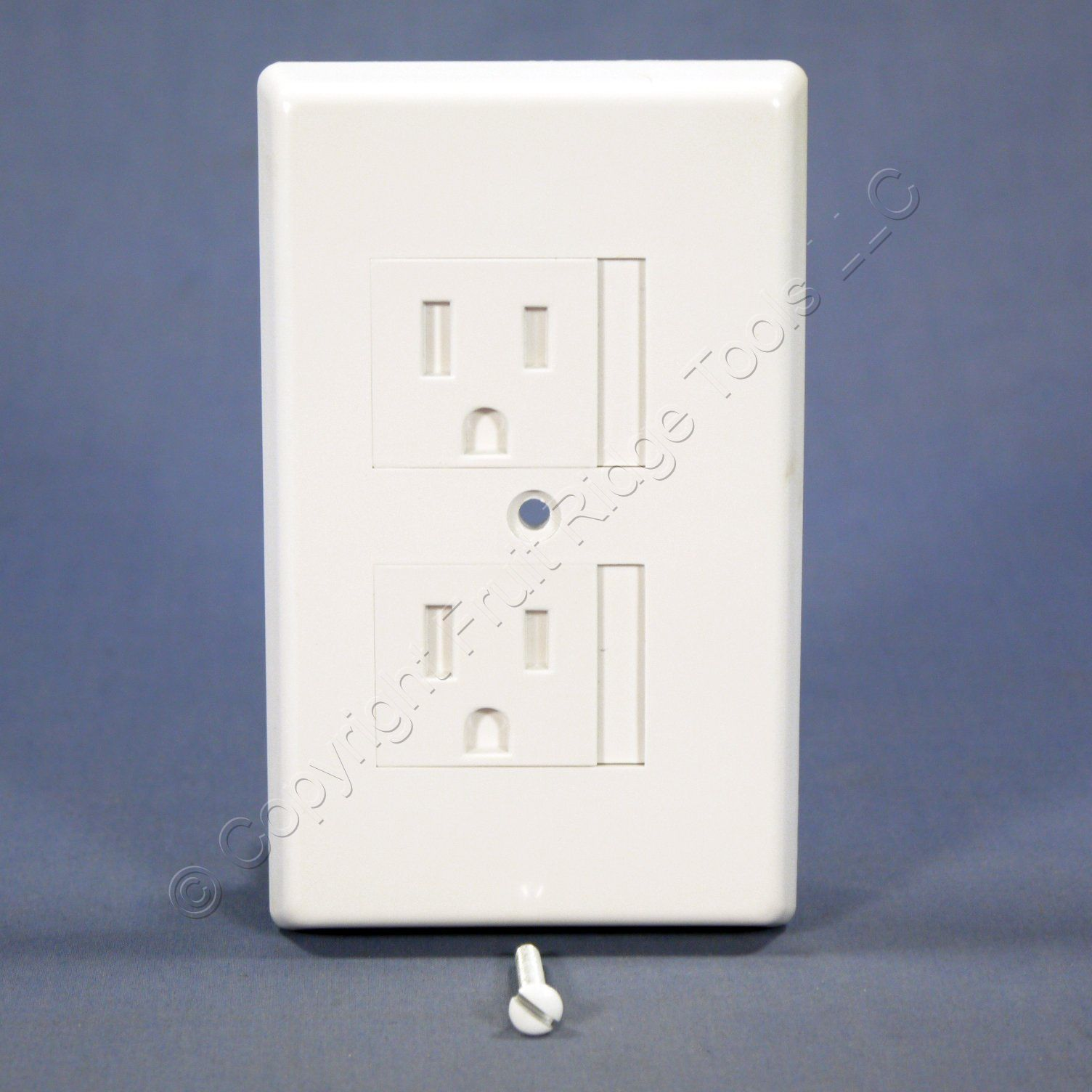 Shop Cooper White 1 Gang Safety Duplex Outlet Cover Receptacle