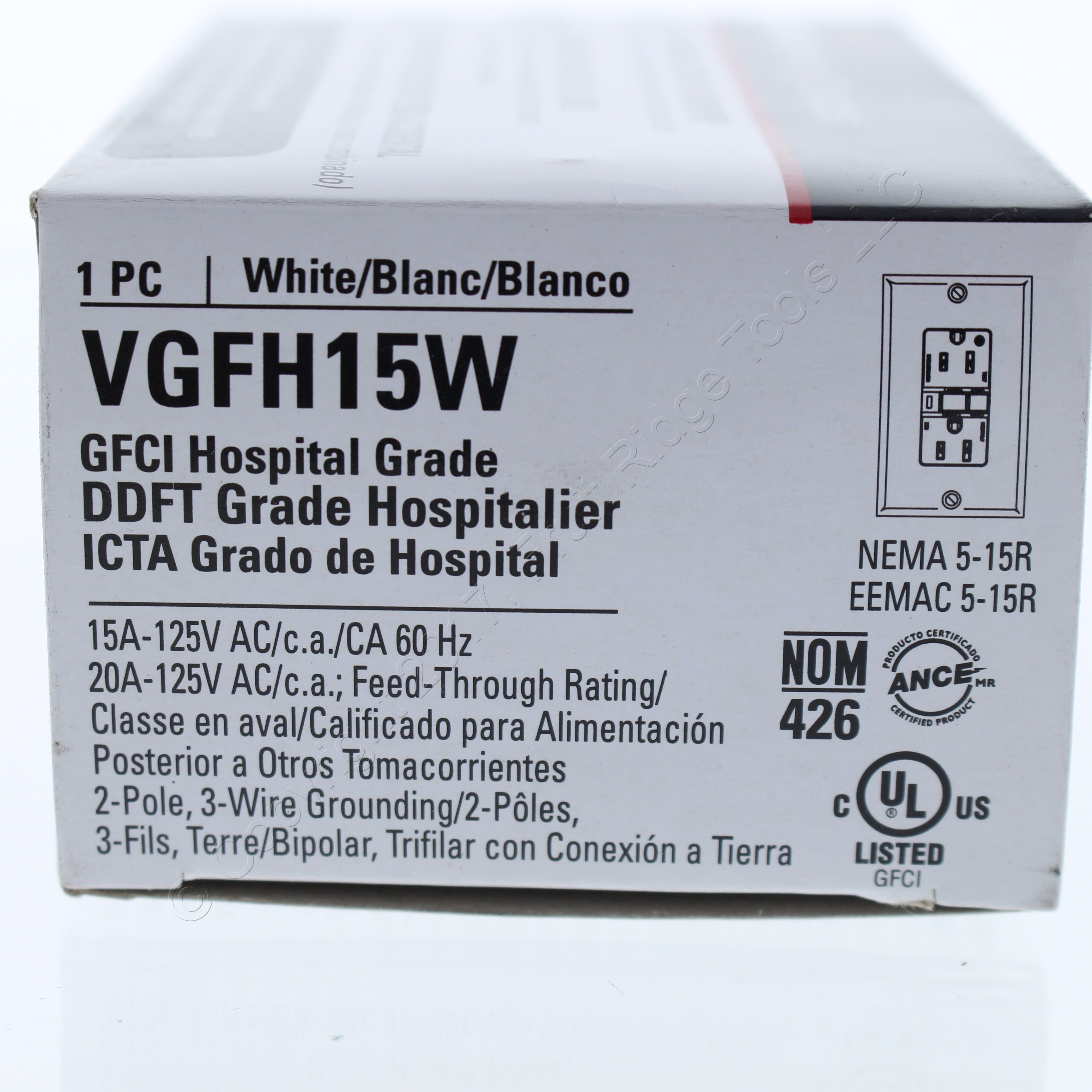 🏠 🔌 Buy Cooper White Hospital Grade Straight Blade GFCI GFI Outlet ...