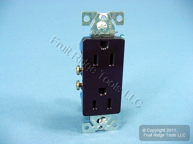 Cooper Brown Residential Decorator Receptacle Duplex Outlet 15A 125V ...