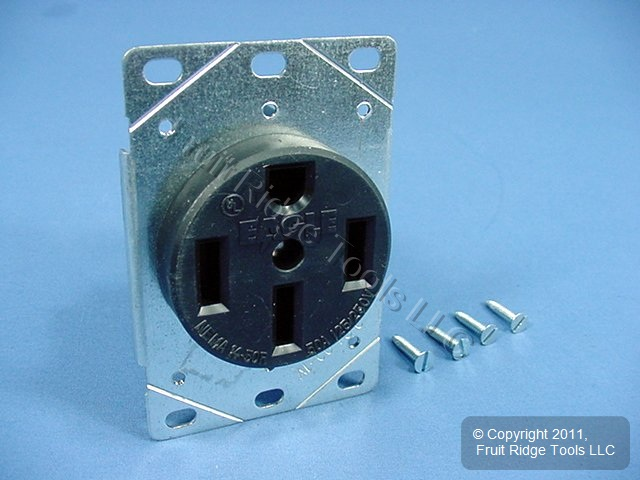 Eagle Flush Mt Range Receptacle Oven Stove Outlet 50A 125/250V 14-50 ...