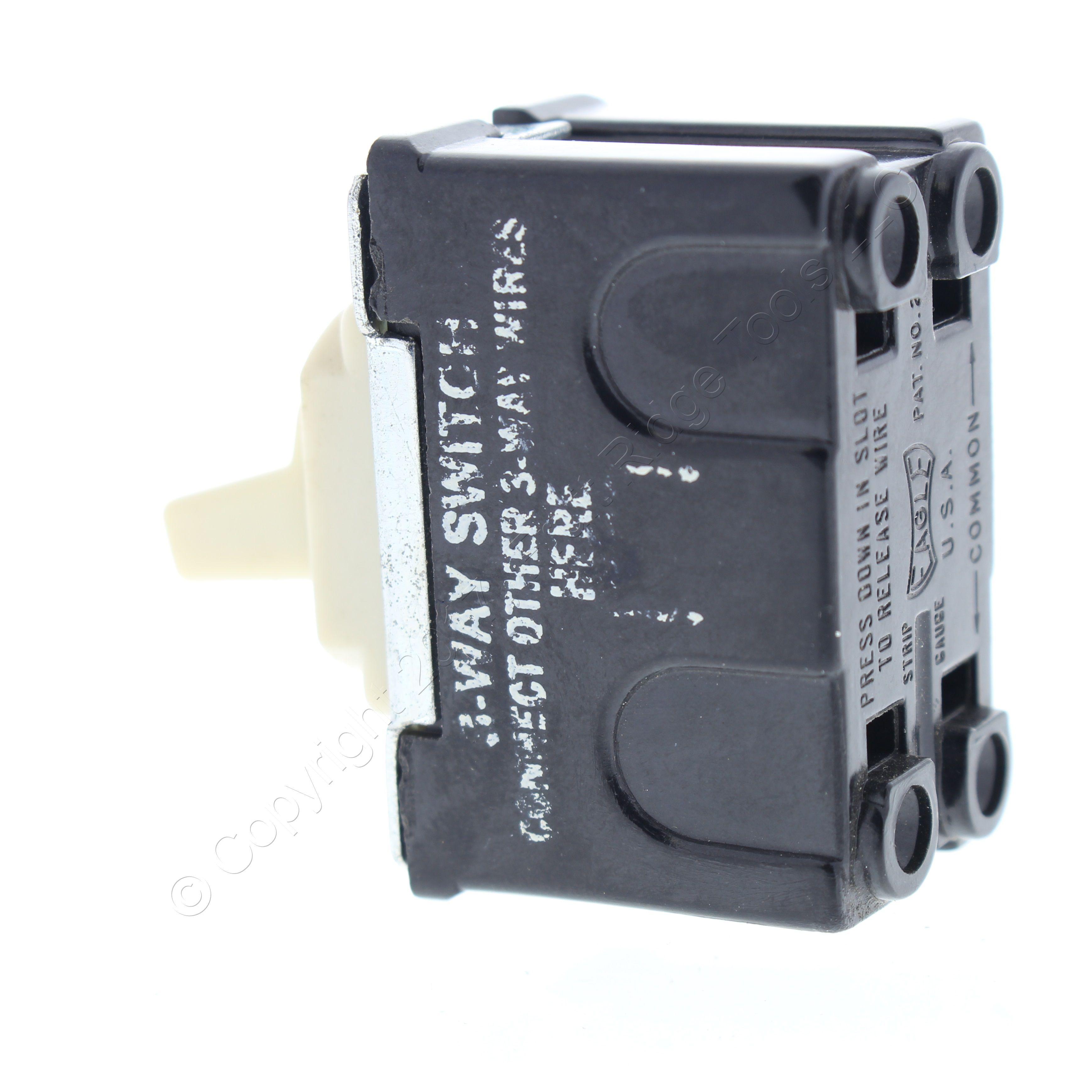 Shop Eagle Ivory 3 Way Interchange Toggle Switch For Despard No Common Plate 15a Bulk 1103v Fruit Ridge Tools