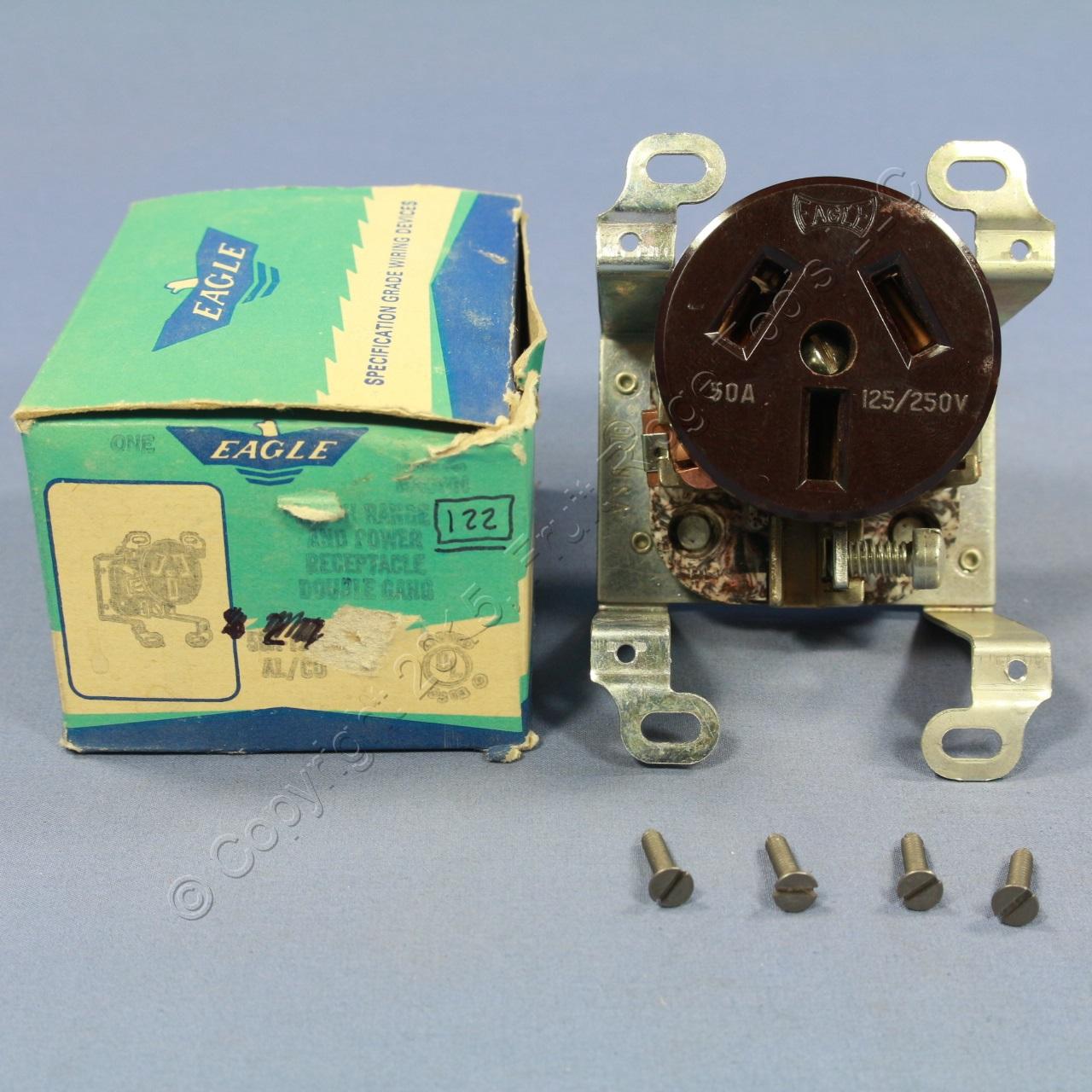 Buy Eagle Offset 2-Gang Power Range Outlet Receptacle 50A 125/250V ...