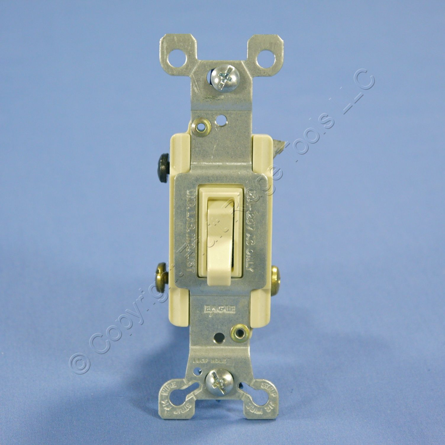 Shop Eagle Electric Ivory Toggle Wall Light Switch 3 Way Quiet Brass 15a 120v Bulk 1303 7v Fruit Ridge Tools