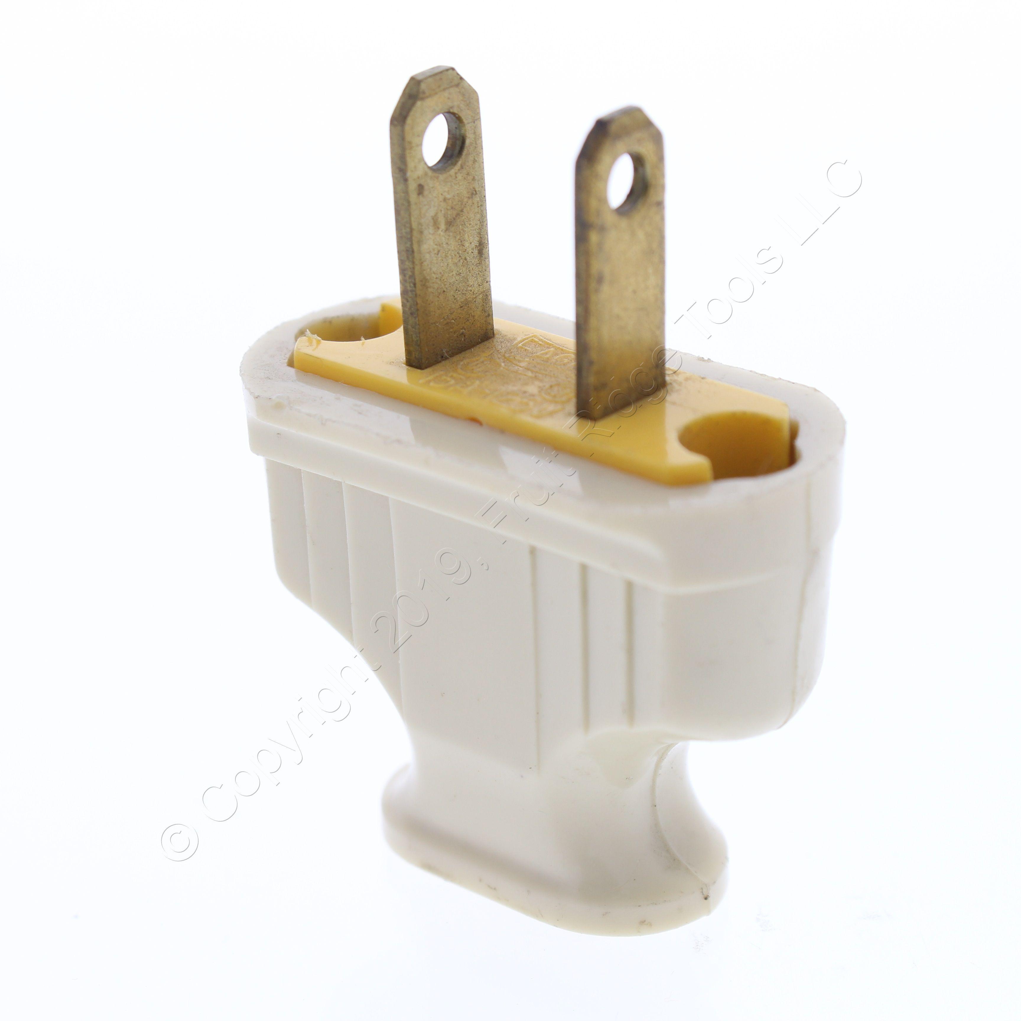 Cooper Brown Residential Non-Polarized Plug Cord End 15A 125V NEMA 1-15P 1912B