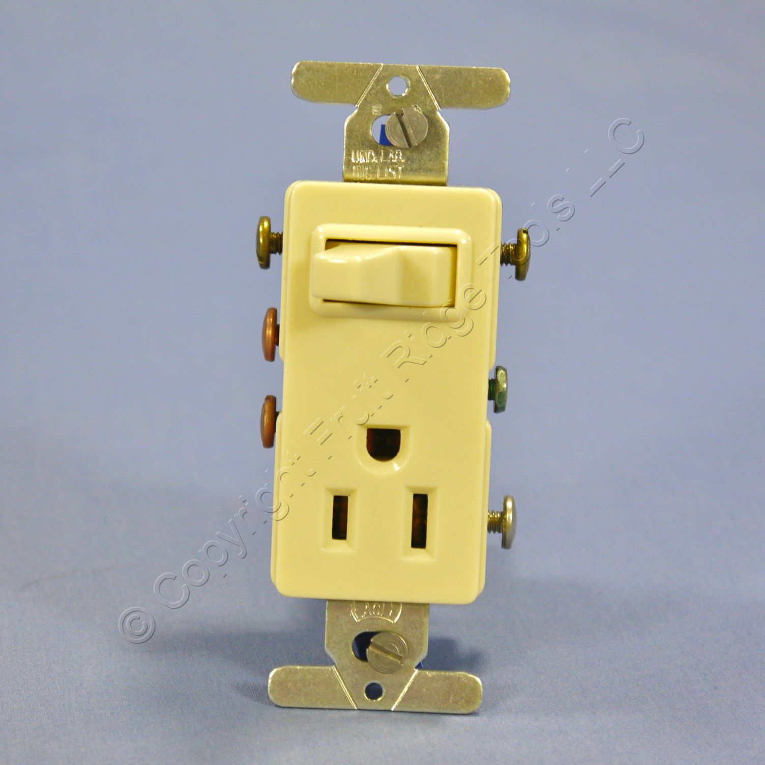 Shop New Eagle Ivory Decorator Combination Light Switch Wiring Diagram Receptacle Outlet 15a 3293v Fruit Ridge Tools