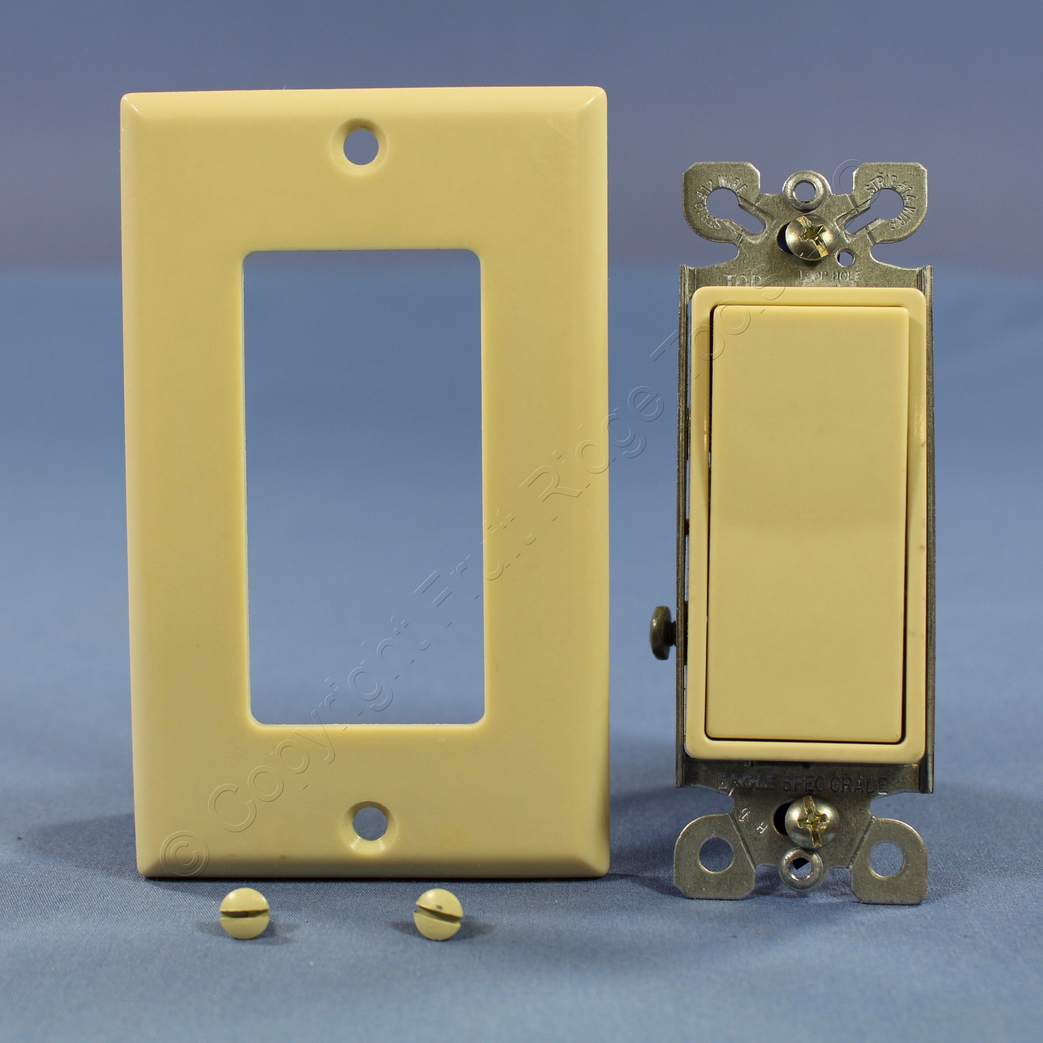 Eagle Ivory LIGHTED Decorator Rocker Wall Light Switch 3-WAY 15A ...