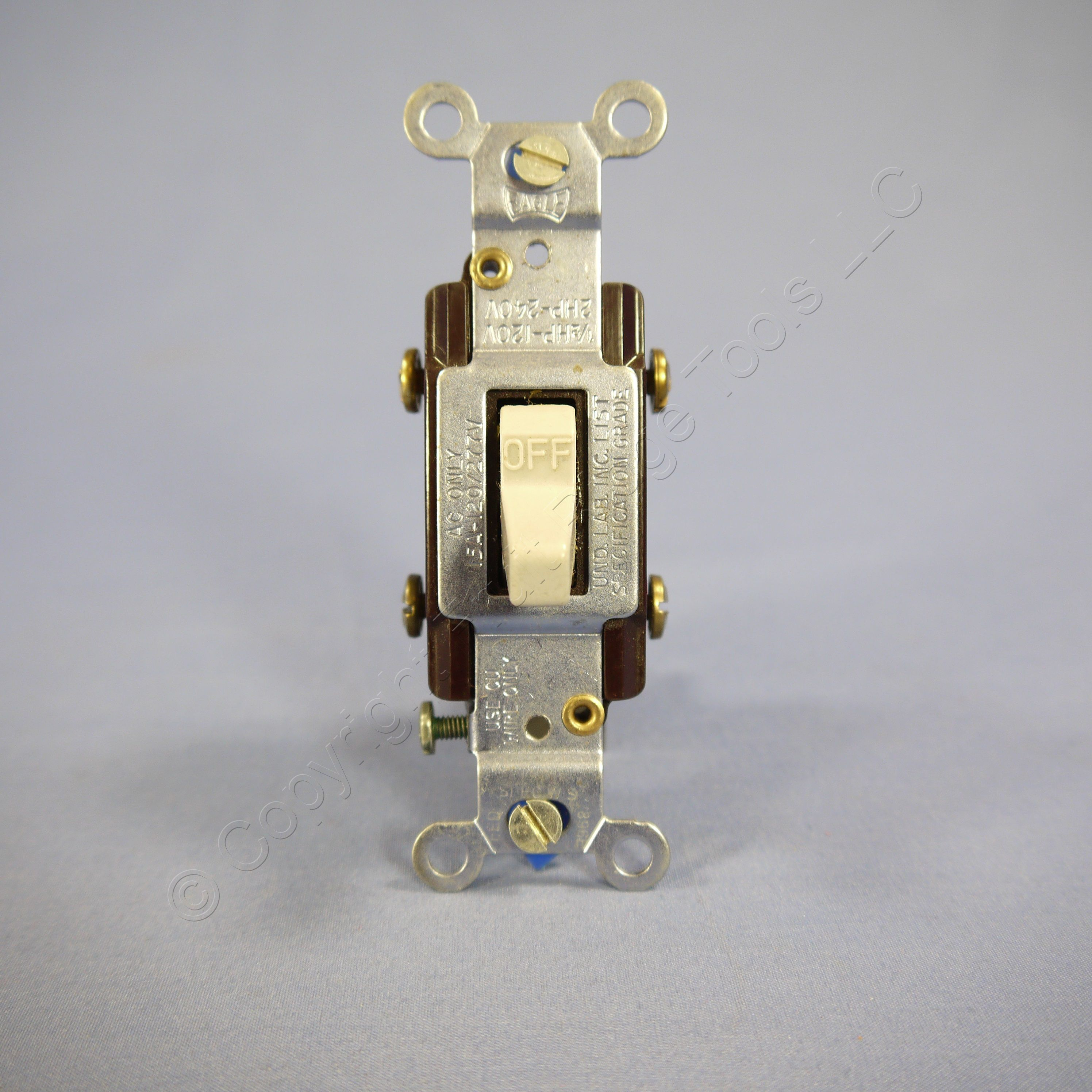 New Eagle Gray COMMERCIAL Grade DOUBLE POLE Toggle Light Switch 15A ...