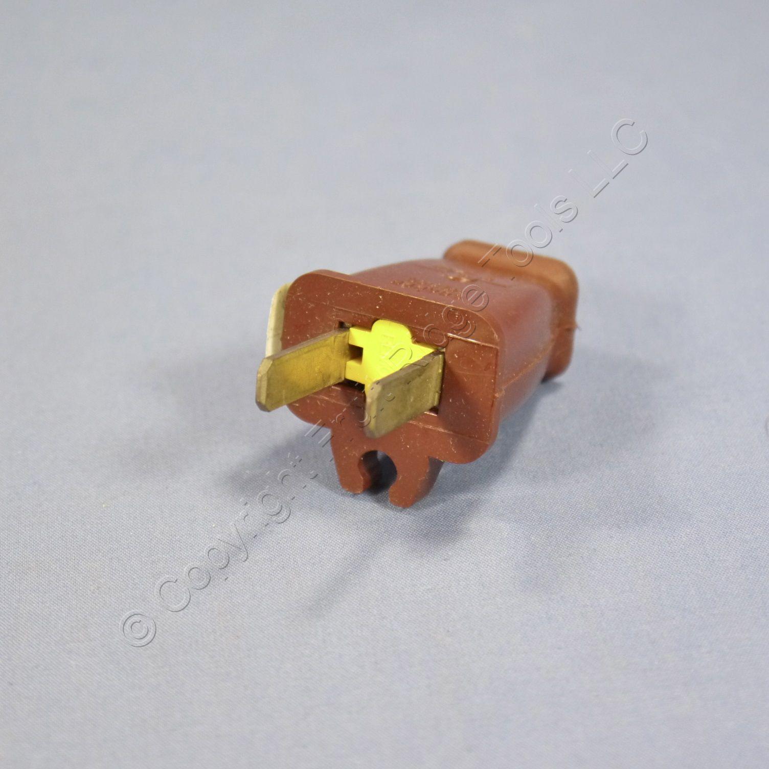 Eagle Brown Straight Plug W   Cord Clip 15a Non