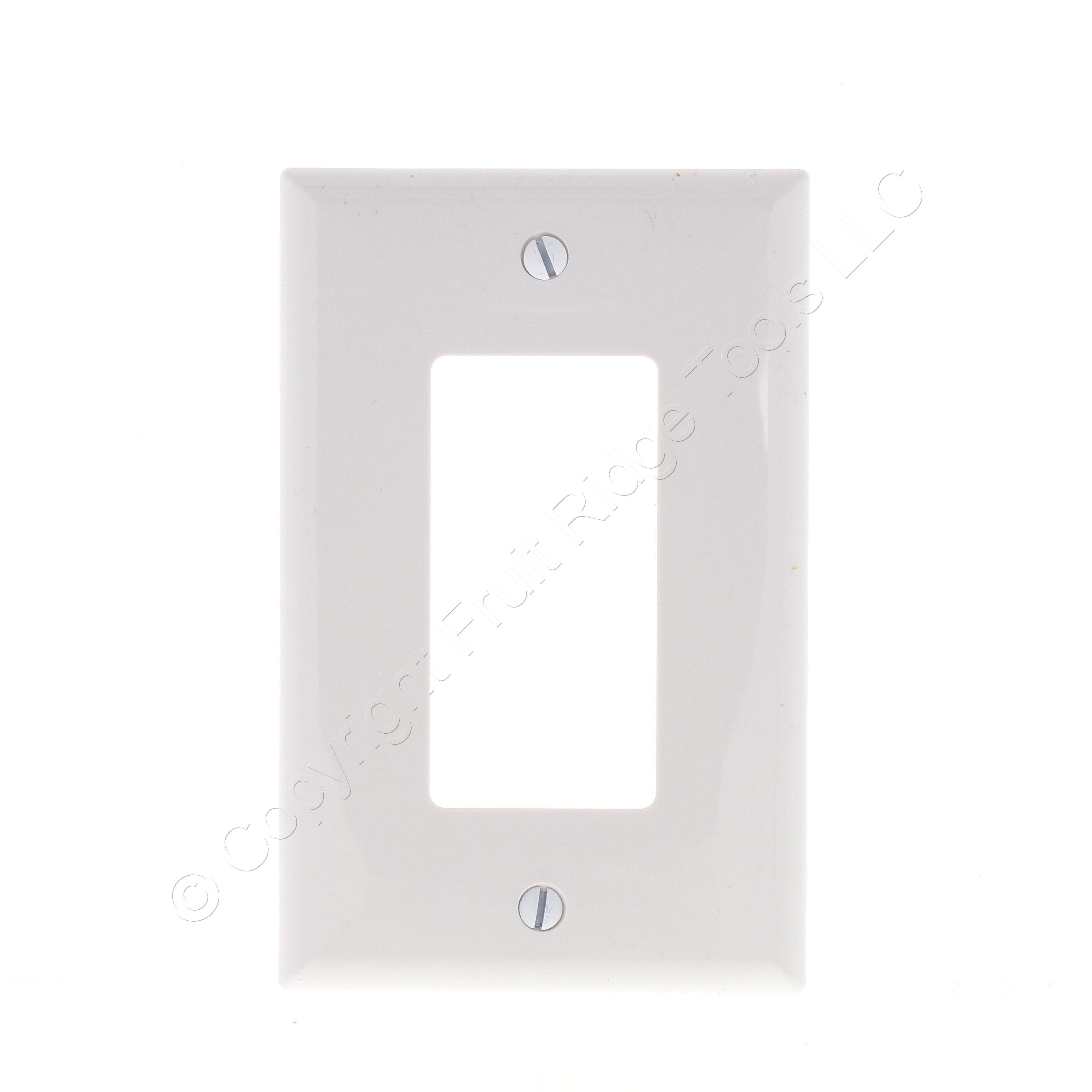New Eaton White Decorator 1G UNBREAKABLE Mid-Size Wallplate