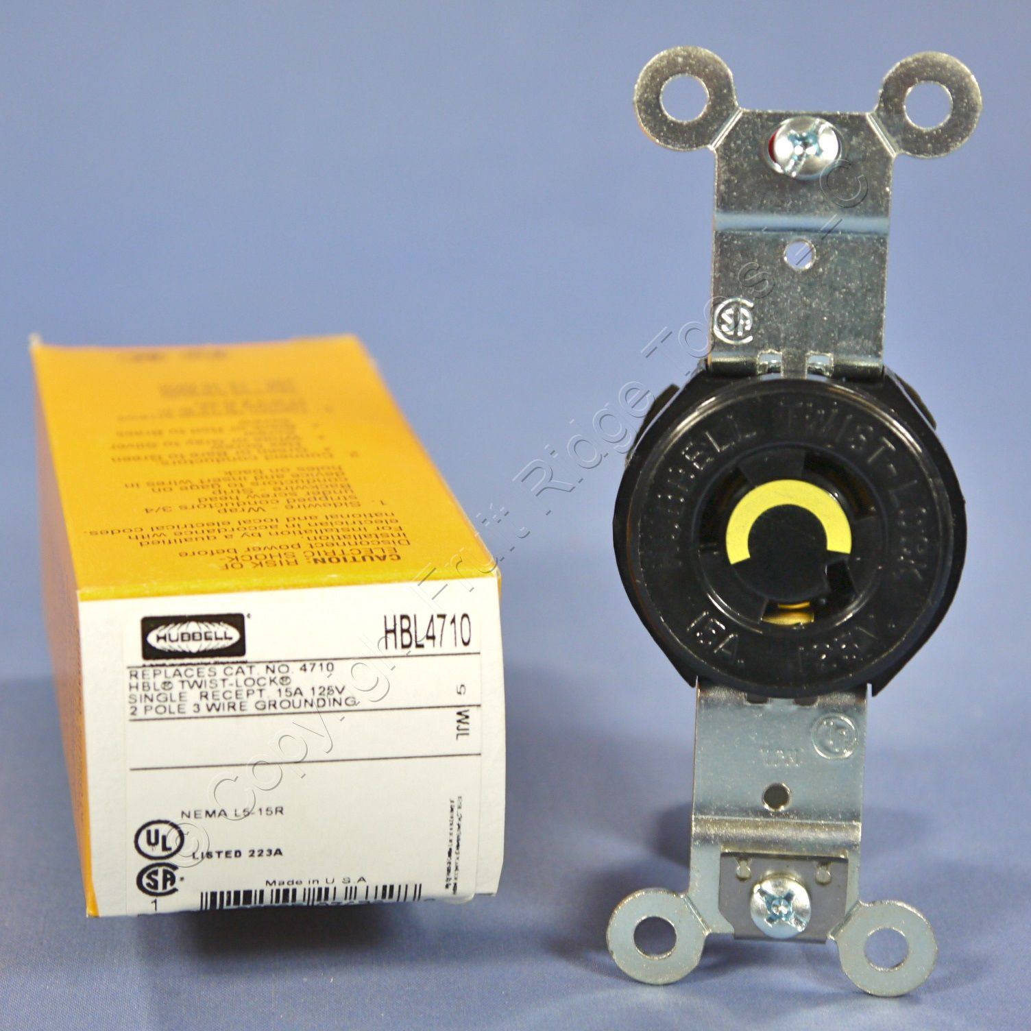 Hubbell MYZ Turn and Pull 15A 125V *FREE SHIPPING*