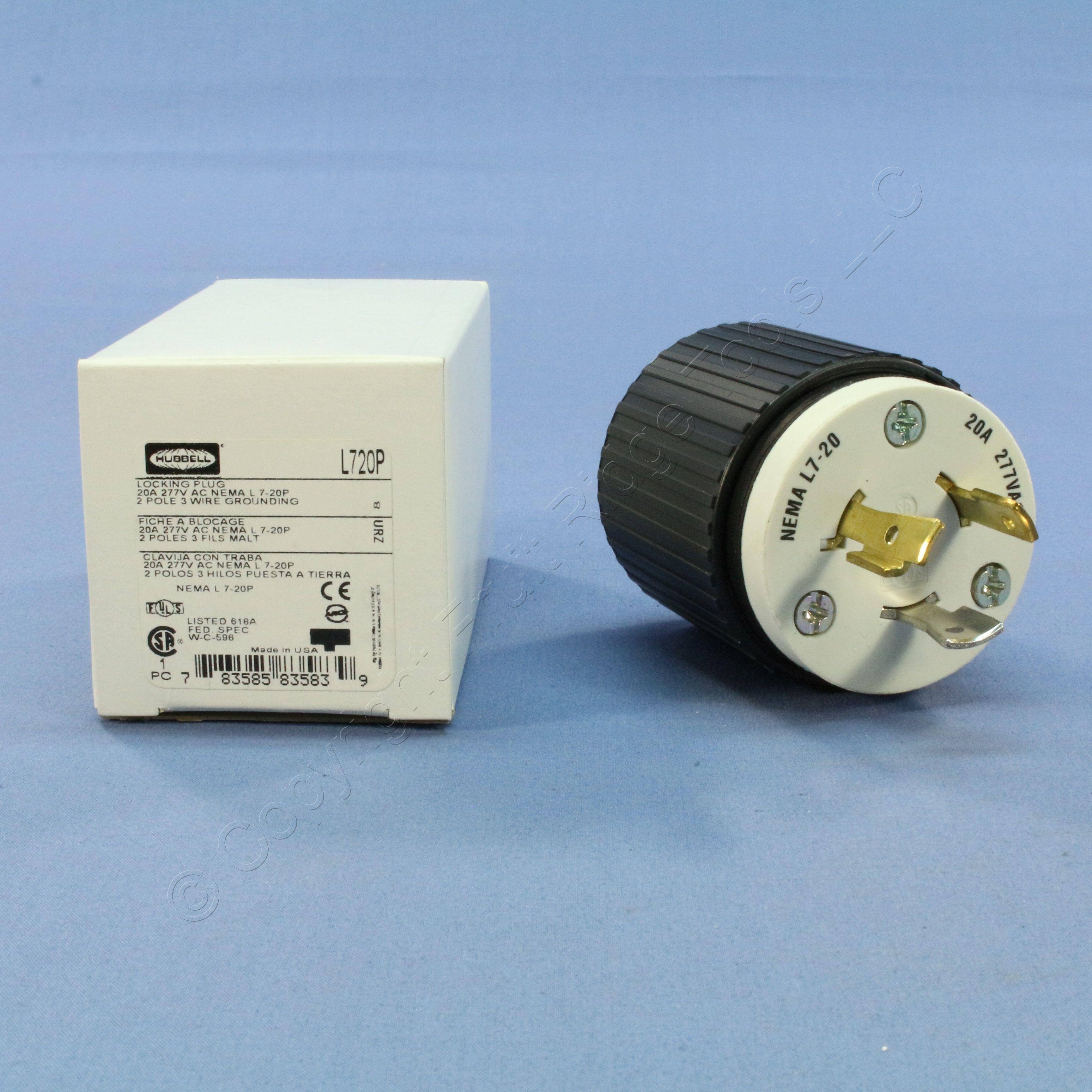 🏠 🔌 Buy Hubbell Industrial Turn Twist Locking Connector Plug NEMA ...