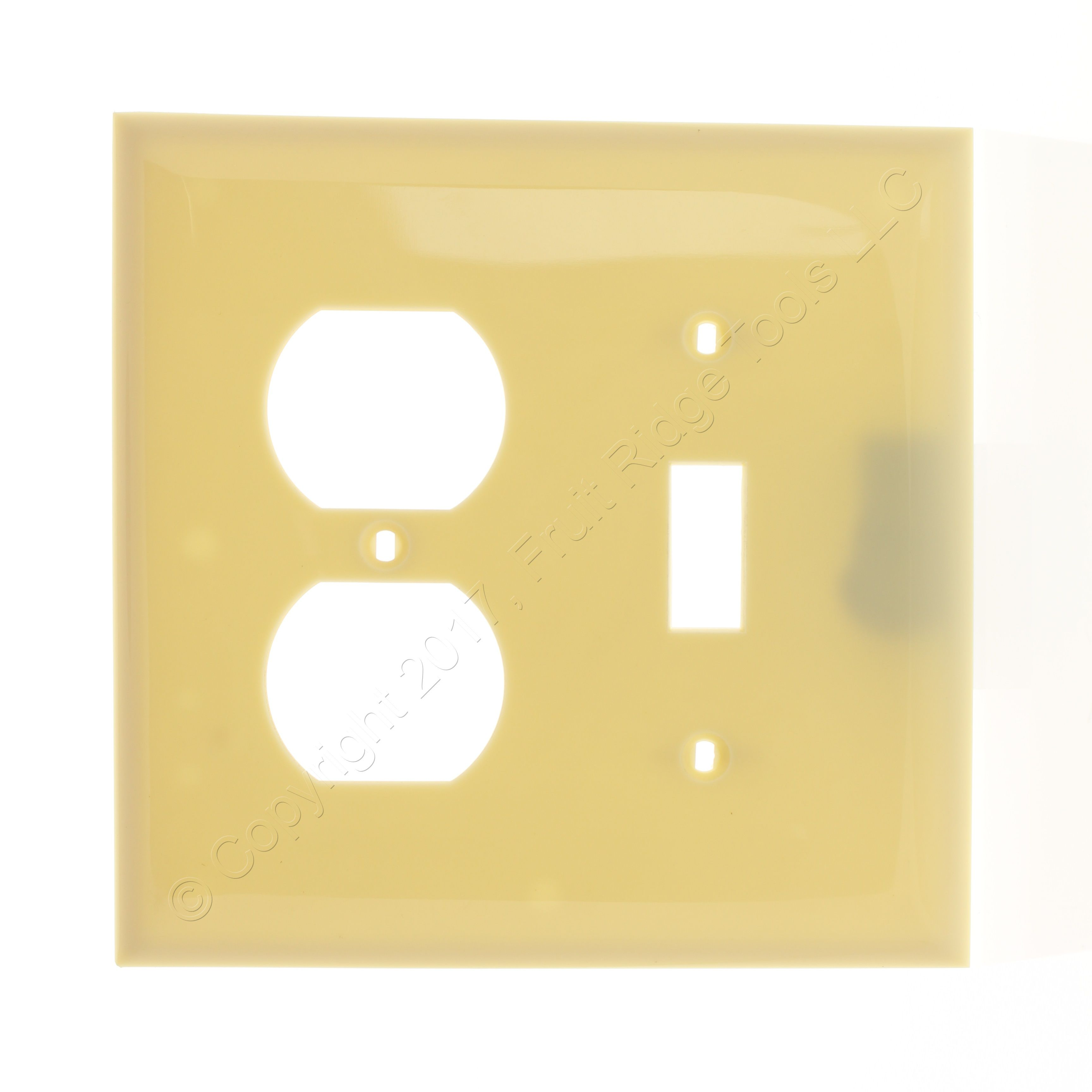 New Hubbell Ivory 2 Gang Nylon Wallplate Switch Duplex Receptacle