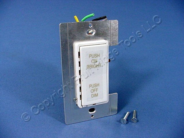 Buy Leviton White Decora Full Range Dimmer Switch Fluorescent ...