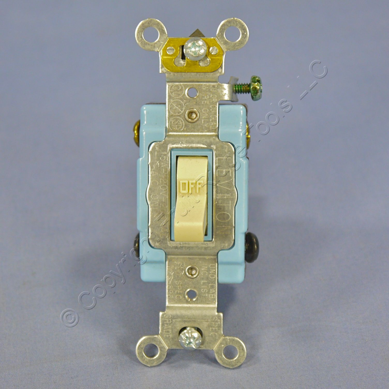 Leviton Ivory Industrial Toggle Wall Light Switch Double Pole 15a Electrical Outlets Switches Gfi Outlet Bulk 1202 2i