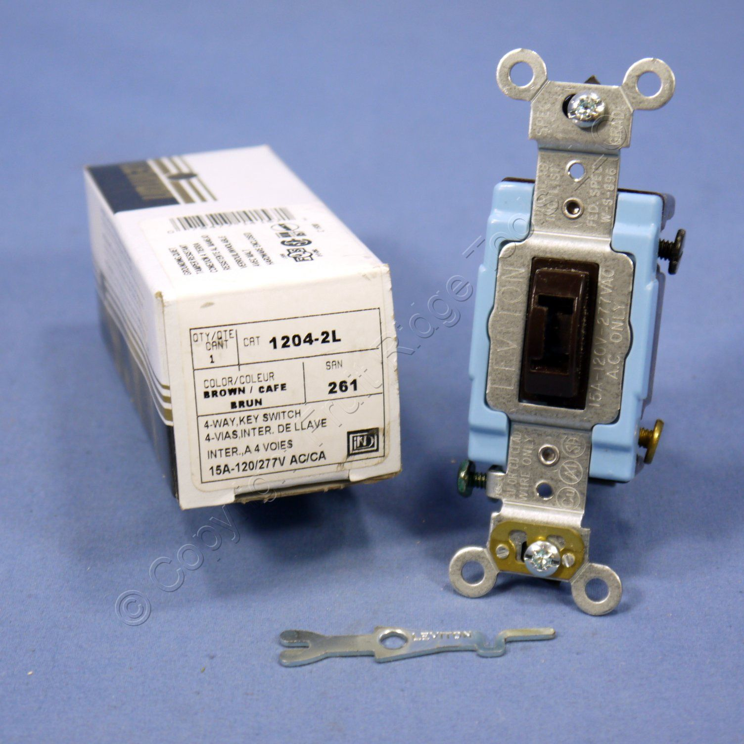 Shop Leviton Brown Keyed 4 Way Industrial Toggle Light Switch What Is A Tamper Resistant 15a 1204 2l Fruit Ridge Tools