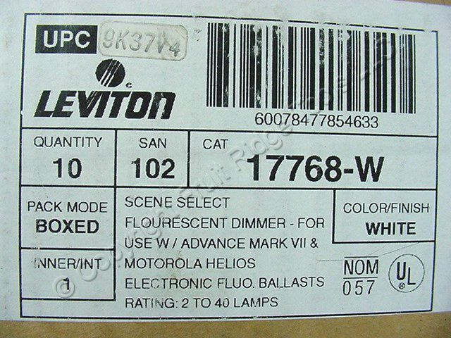 Buy 10 Leviton White Decora Scene Dimmer Switches MicroDim Preset ...