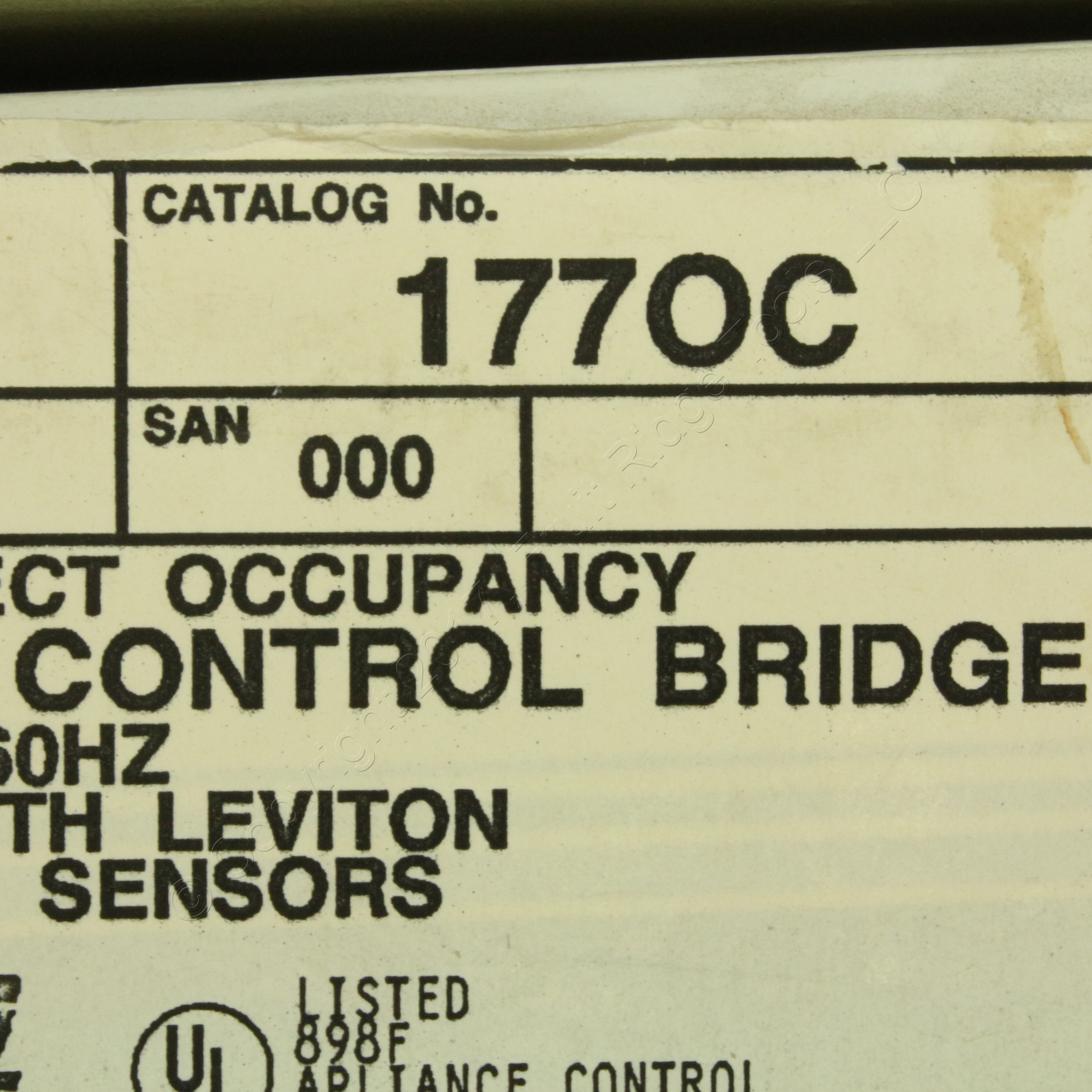 Leviton Scene Select Occupancy Motion Sensor Control Bridge No LOAD on