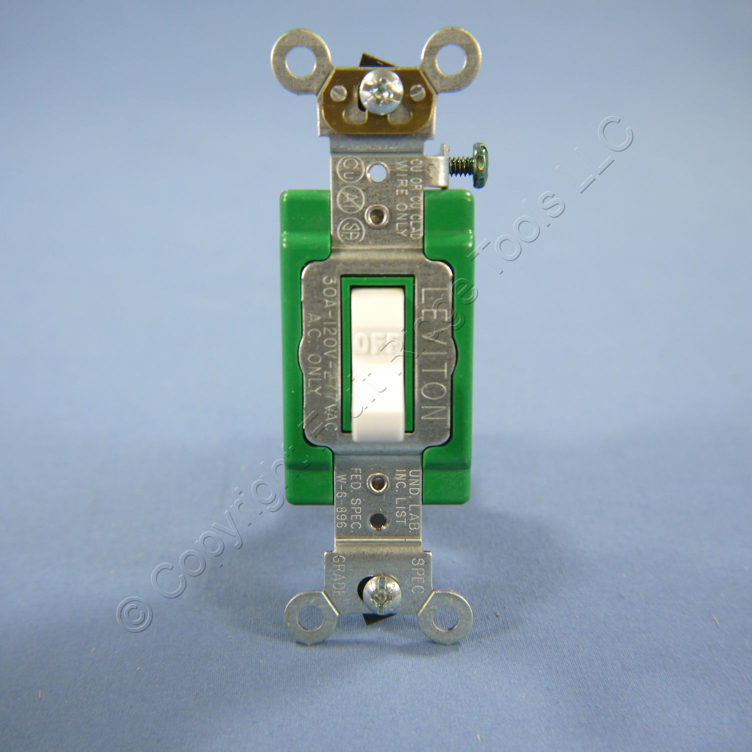 New Leviton White INDUSTRIAL DOUBLE POLE Toggle Light Switch 30A ...