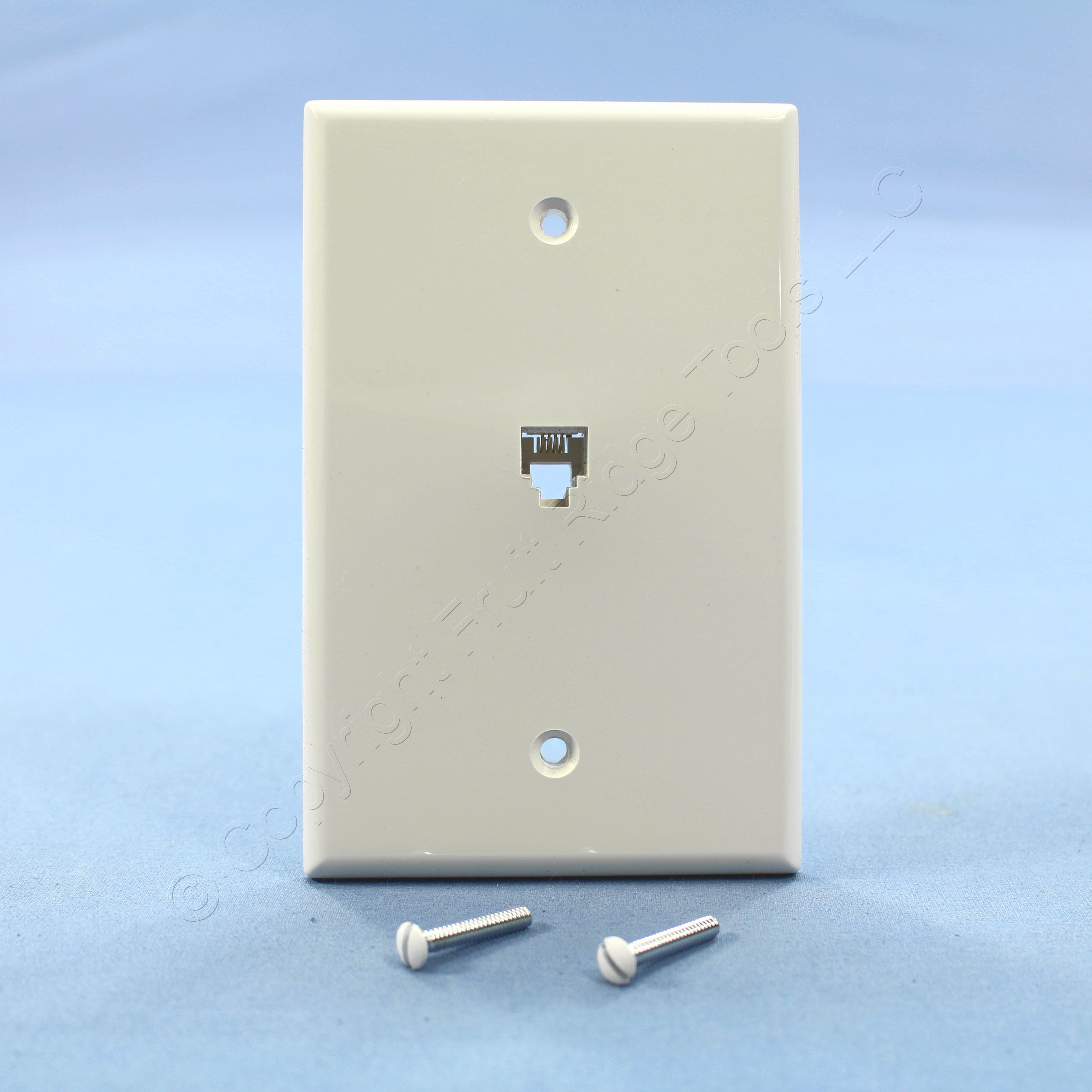 Phone Telephone Wall Jacks Leviton Wiring Diagram For Jack Plate White Large Position Wire 3456x3456