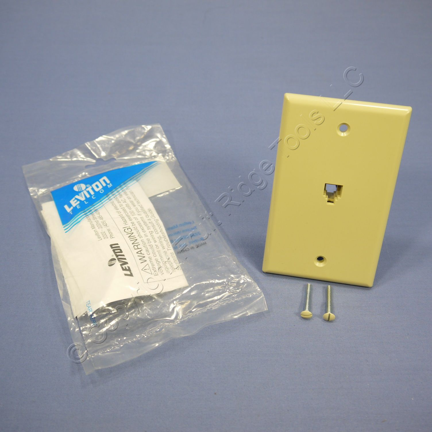 🏠 🔌 shop leviton ivory type 625b4 telephone 4-wire phone jack wall plate  6p4c 4625b-44i | fruit ridge tools