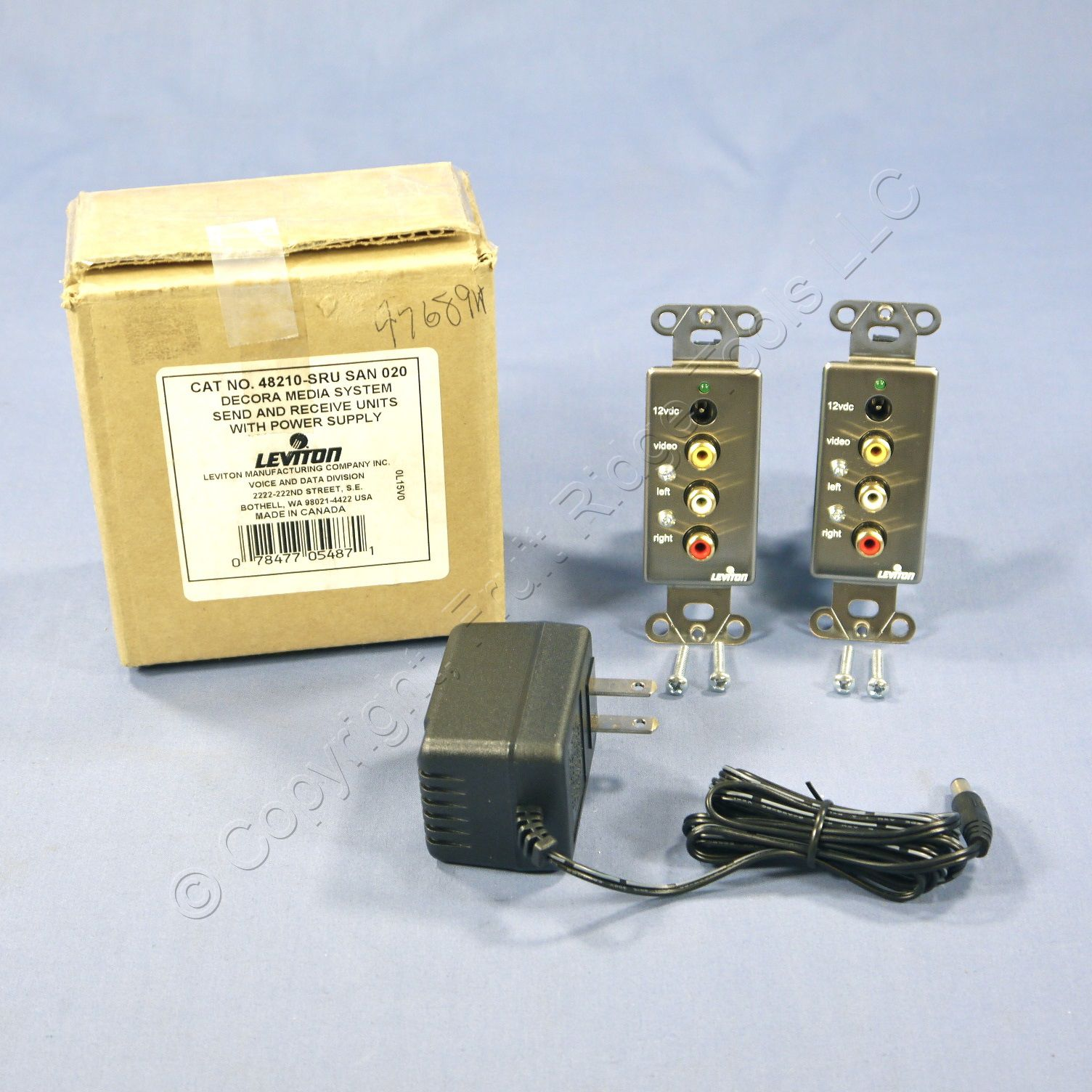 Buy Leviton Decora Media System Send & Receive Unit Cat 5 with Power ...