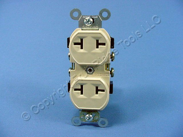 Buy Leviton Ivory T-Slot Receptacle Duplex Outlet Non-Grounding NEMA ...