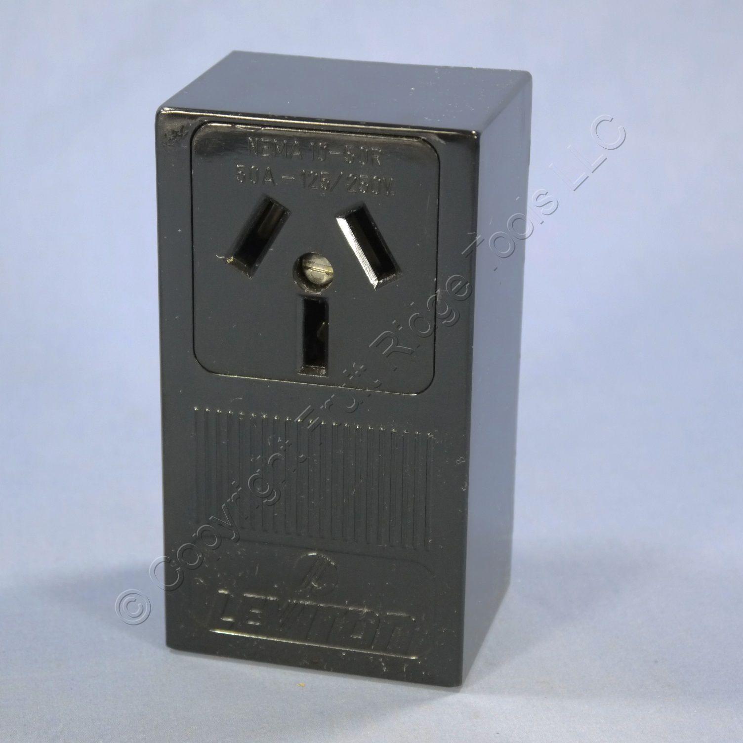 L5050 EA 4 leviton range dryer 10 50 surface mount receptacle outlet nema 10 leviton 30a 125 250v plug wiring diagram at crackthecode.co
