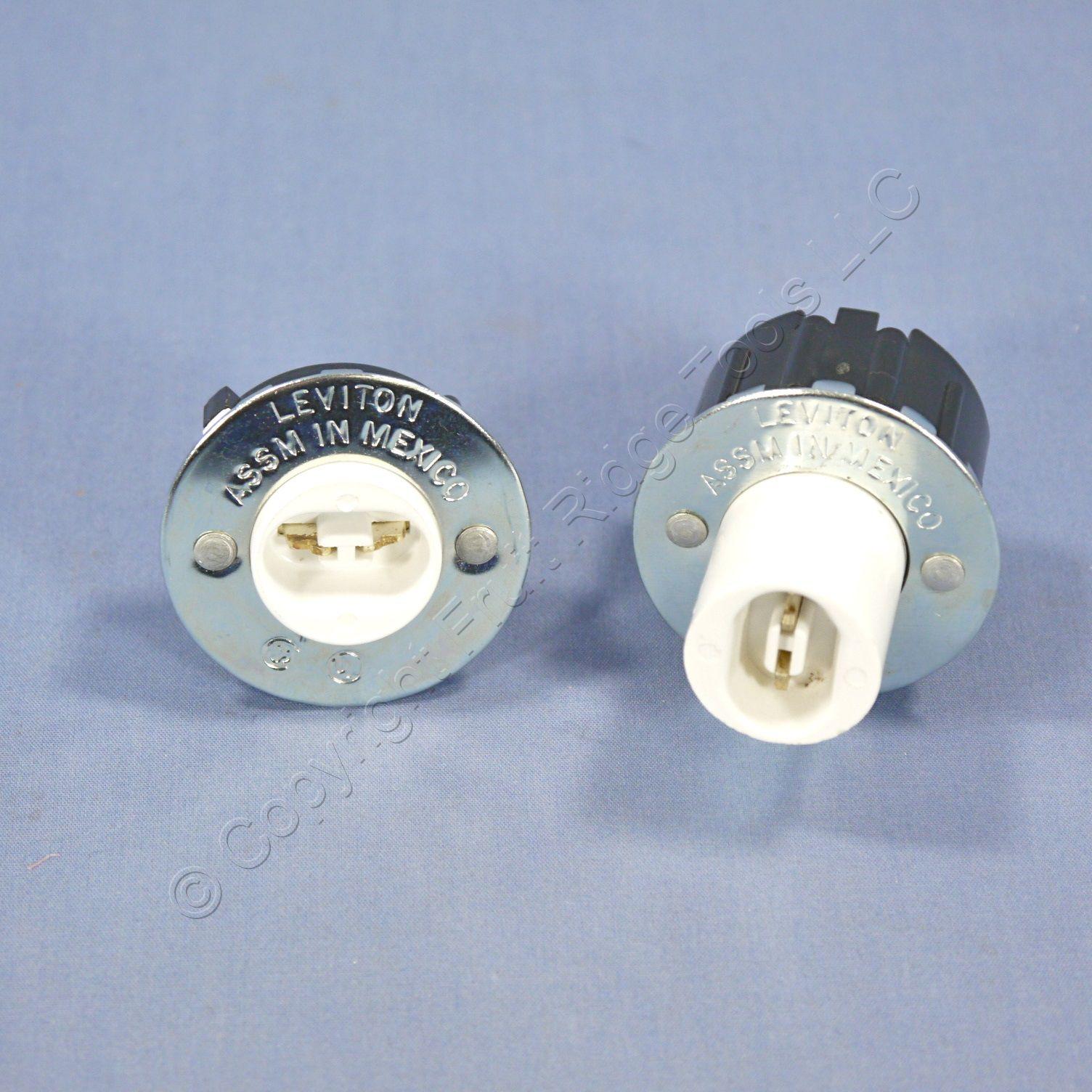 Leviton Fluorescent Lamp Holder Light Socket Slimline R17d Plunger ...