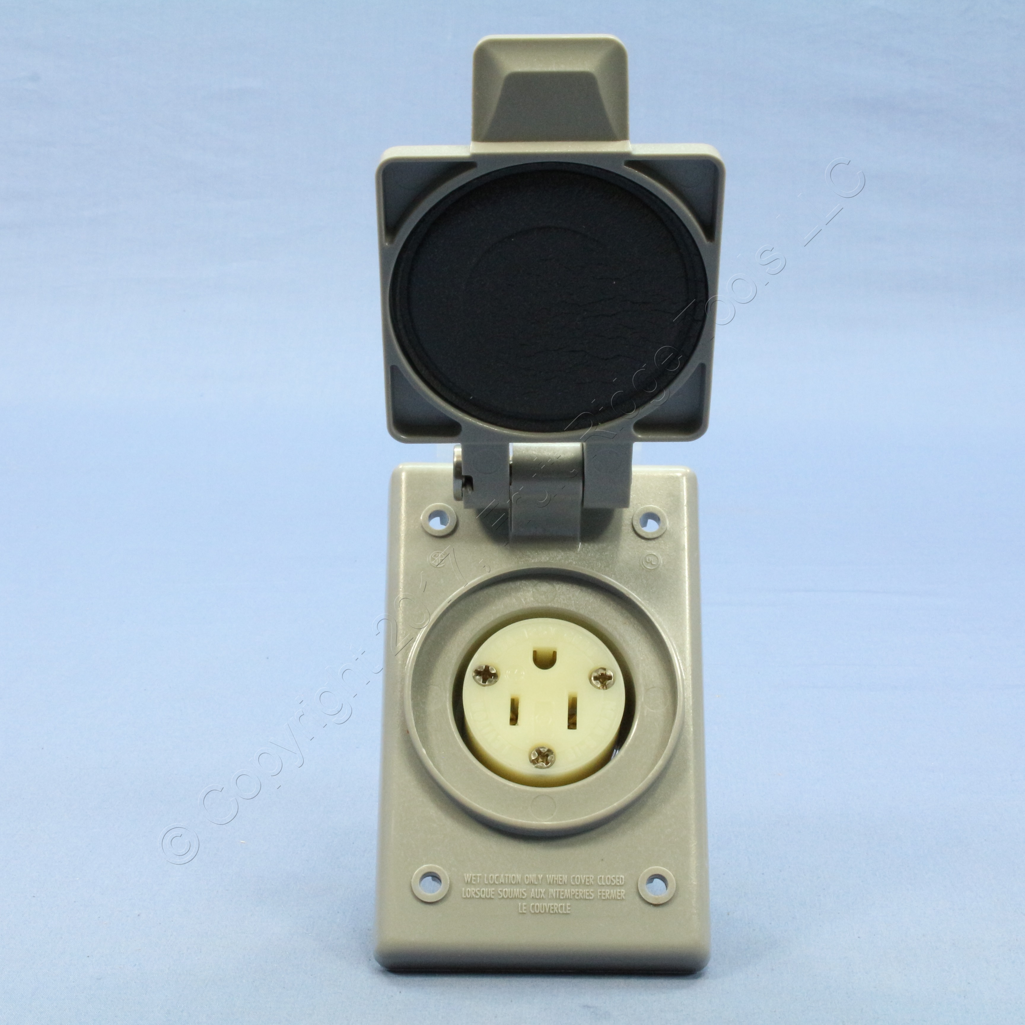Leviton Industrial Flanged Outlet Weather Resistant Cover 5 15 15a Wiring Devices Philippines 125v 5279 Fwp