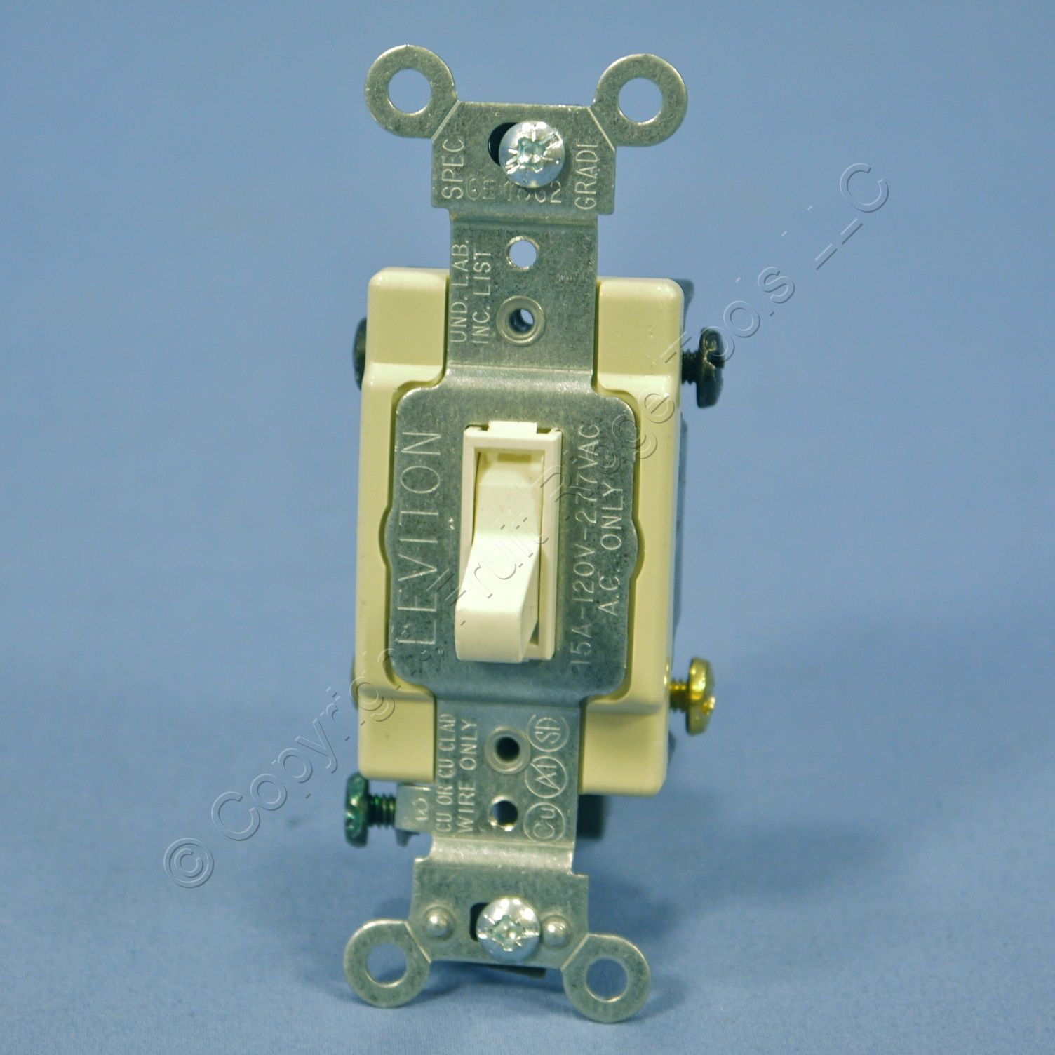 Leviton Light Almond 4-WAY COMMERCIAL Smooth Toggle Light Switch 15A ...